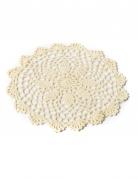 Centrino in maglia avorio 20 cm