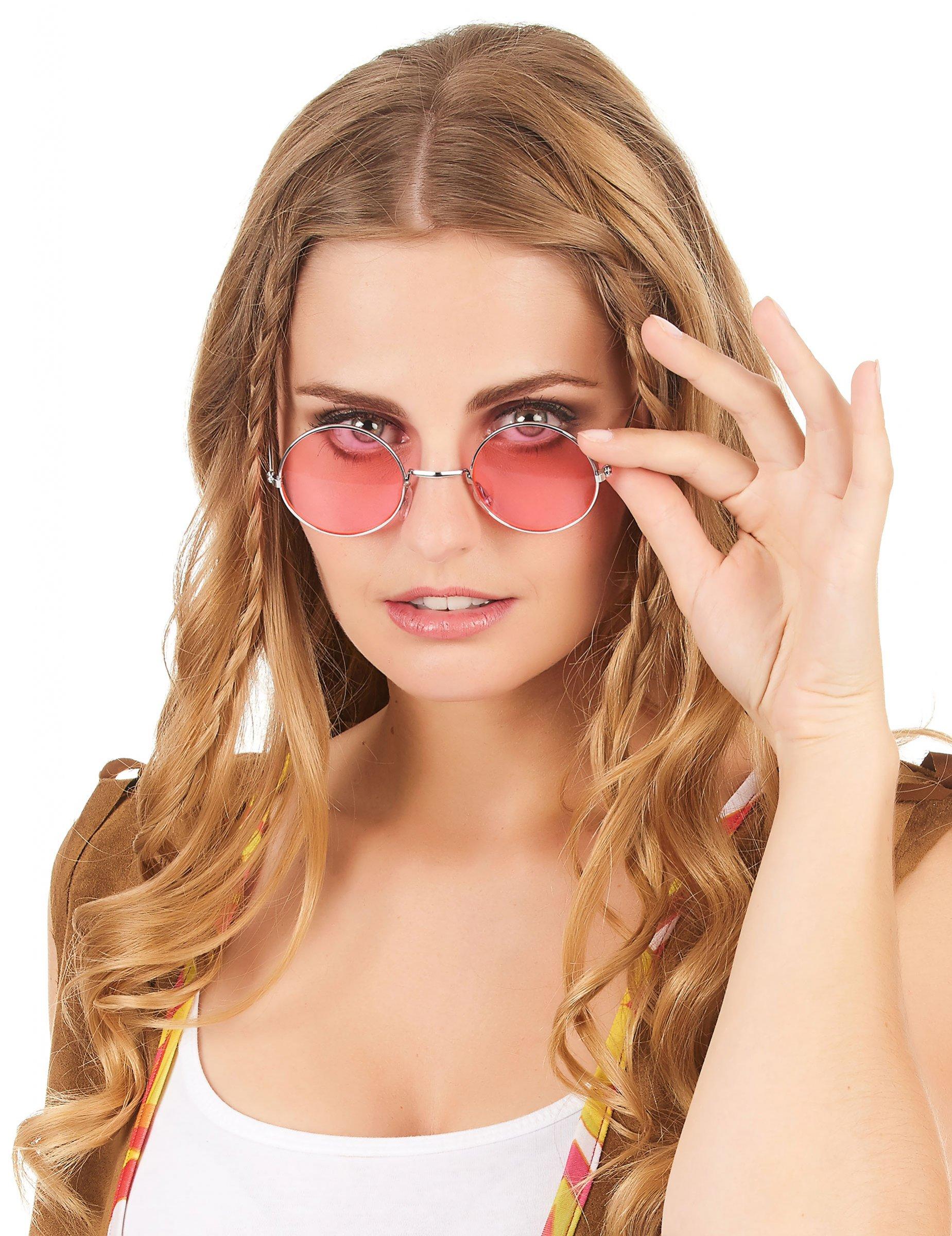 Occhiali rotondi adulto Anni  70 Carnevale su VegaooParty 70018da8071