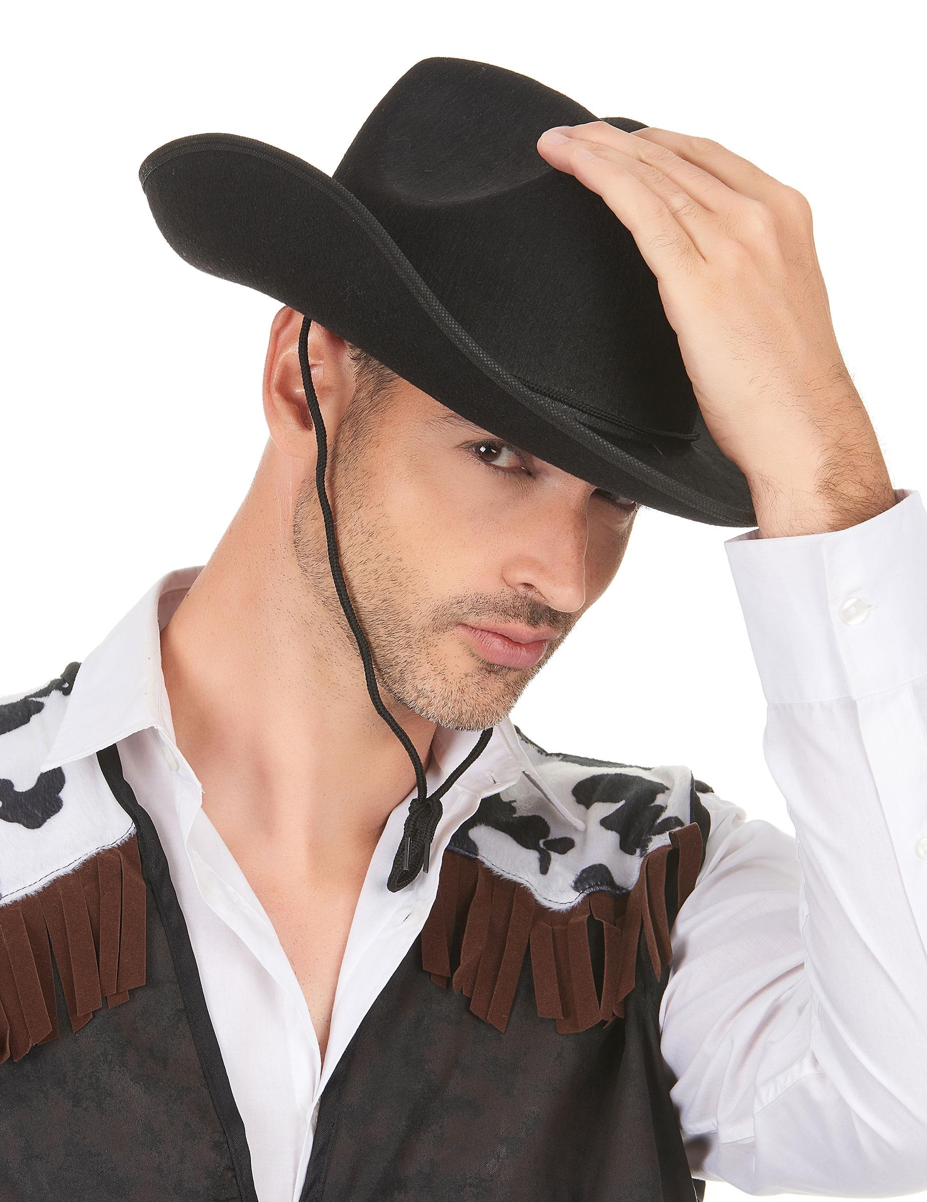 Cappello da cowboy nero per adulto su VegaooParty 0fa7b2c2172b