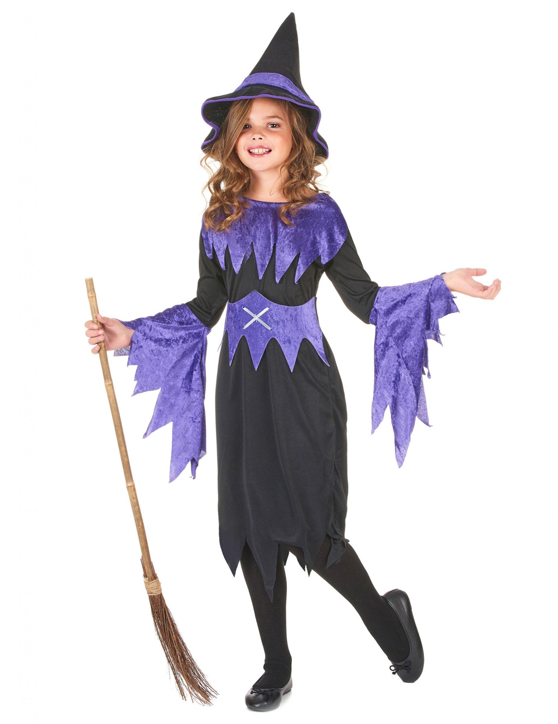 Costume da strega per Halloween da bambina su VegaooParty 80876b432cb5