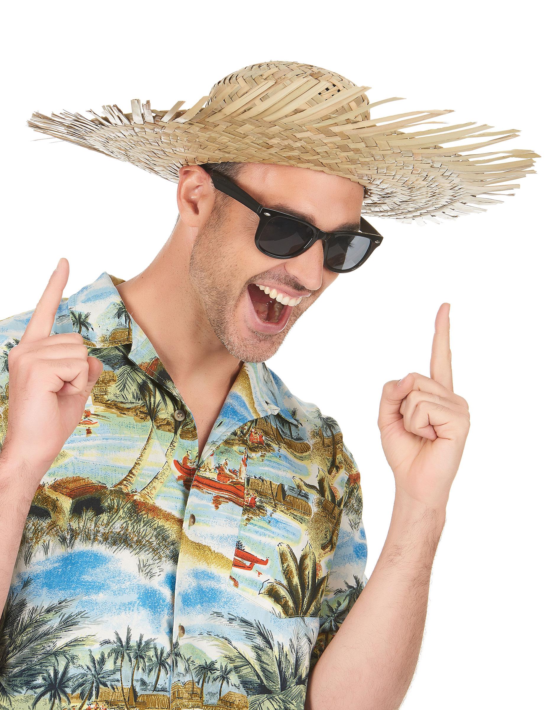 Cappello di paglia adulto in stile Hawaii su VegaooParty f6ec00ed274e
