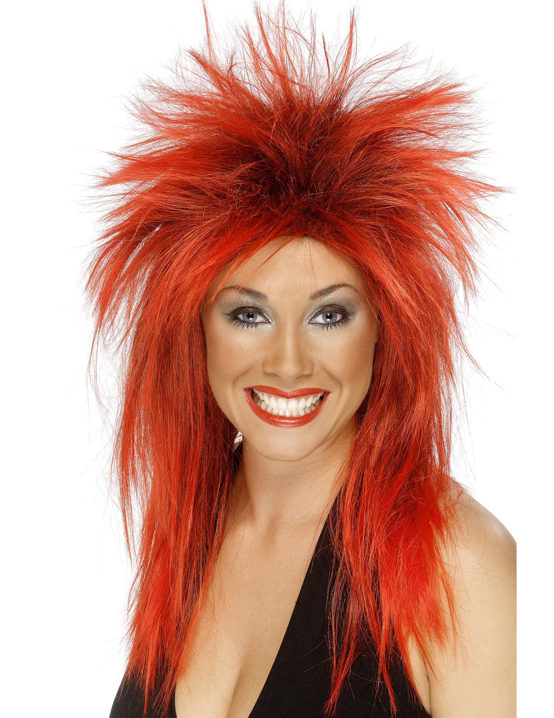 Parrucca rock rossa da donna su VegaooParty, negozio di ...