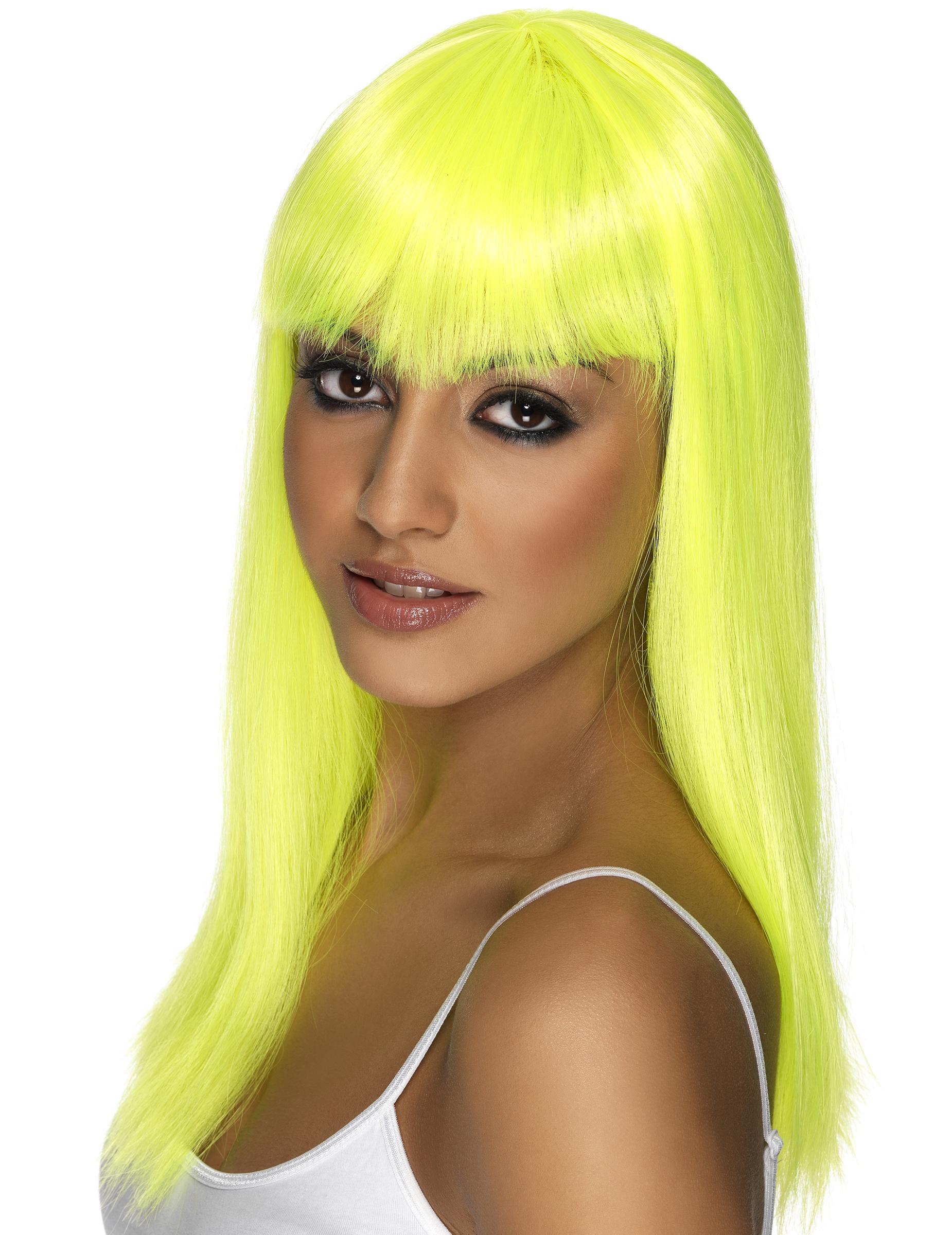 d6d9ec8af116 Parrucca da donna gialla fluorescente su VegaooParty, negozio di ...