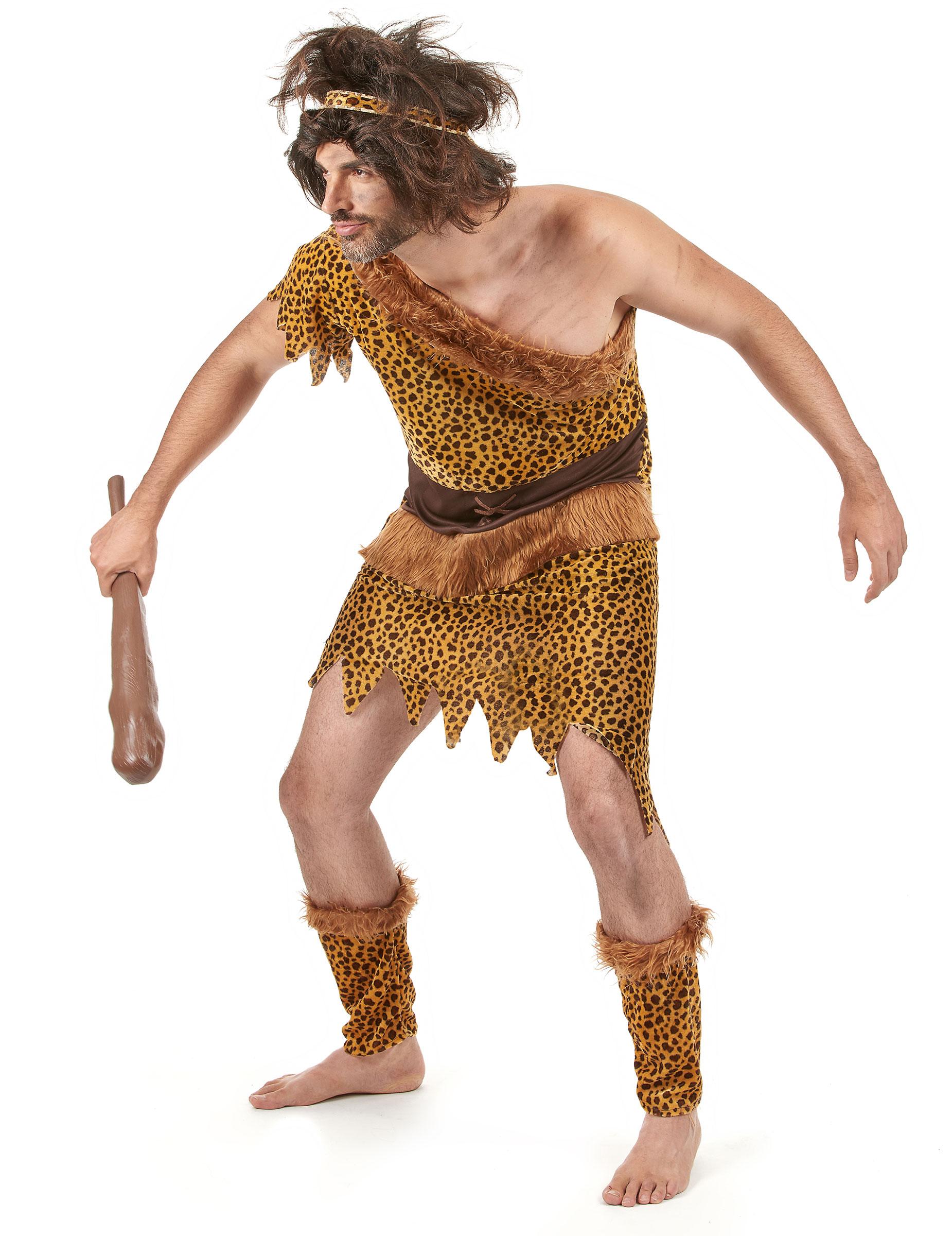 Costume per adulti da uomo delle caverne su vegaooparty negozio