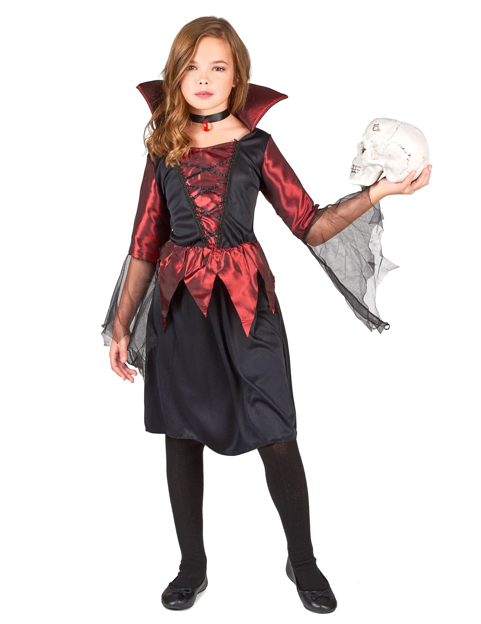 Costume da vampiro per bambina per Halloween su VegaooParty e70b2b5d84a0