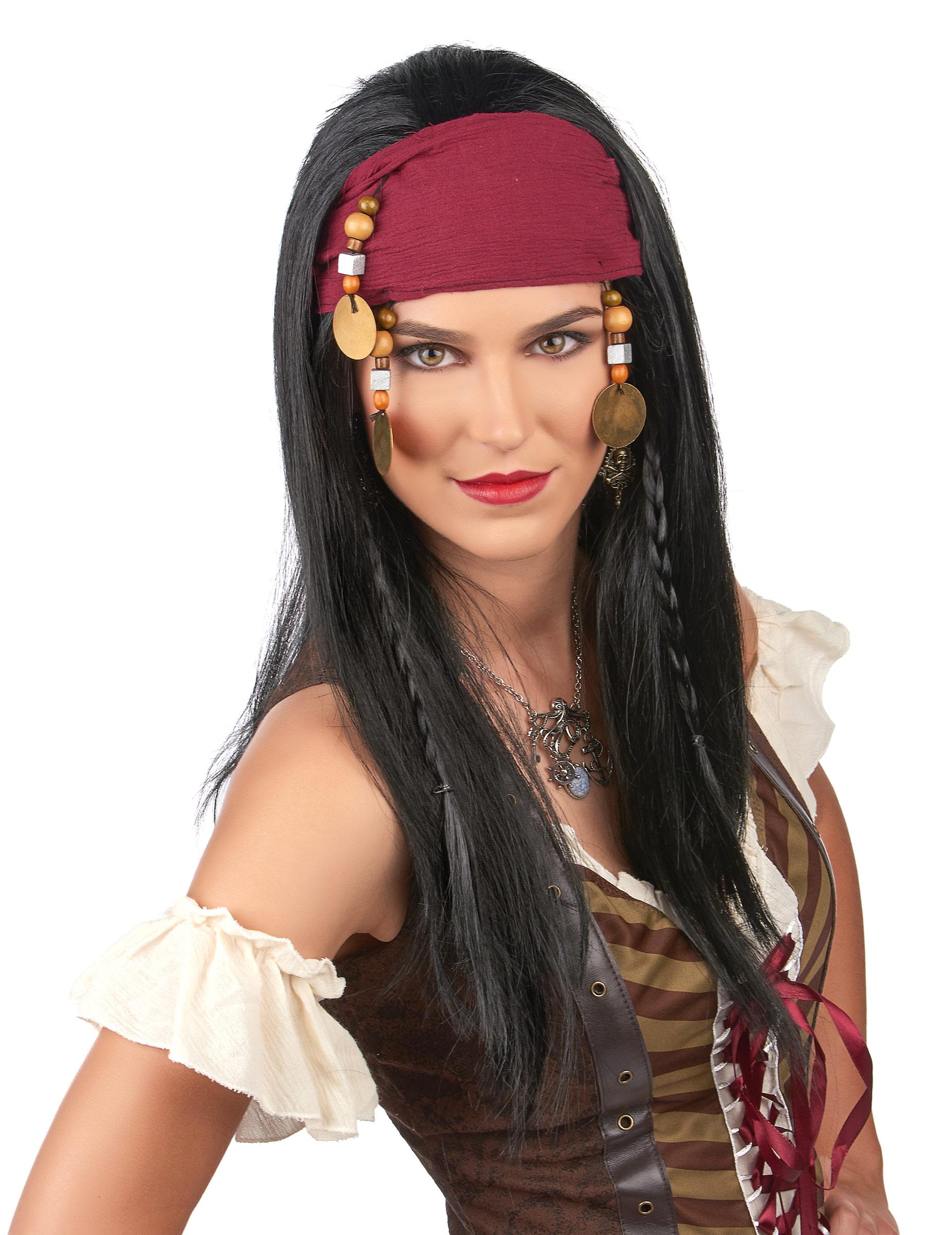 3eb2d95c3243 Parrucca da pirata da donna su VegaooParty, negozio di articoli per ...