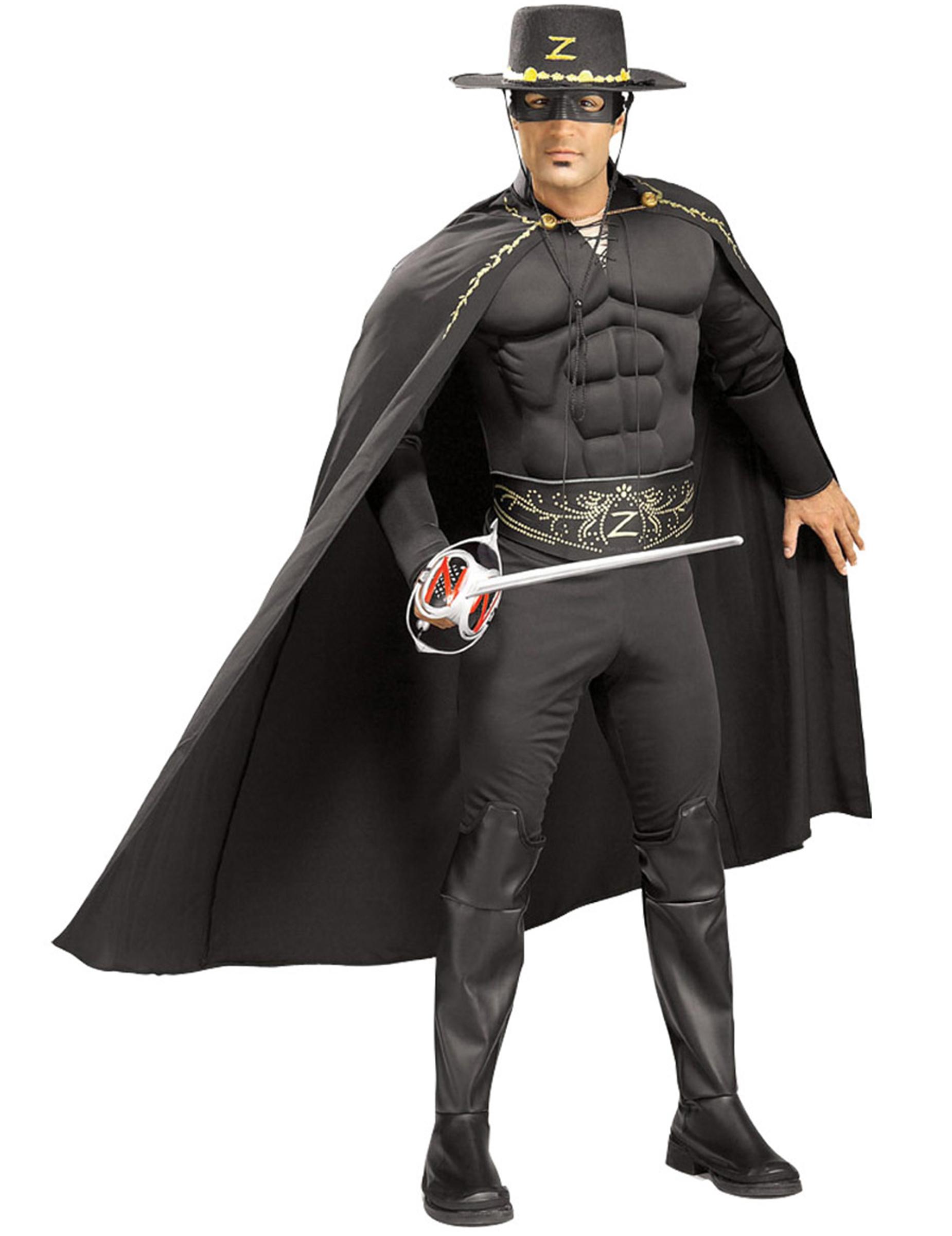 Costume di Zorro™ con muscoli adulto su VegaooParty b7d7b2544a02