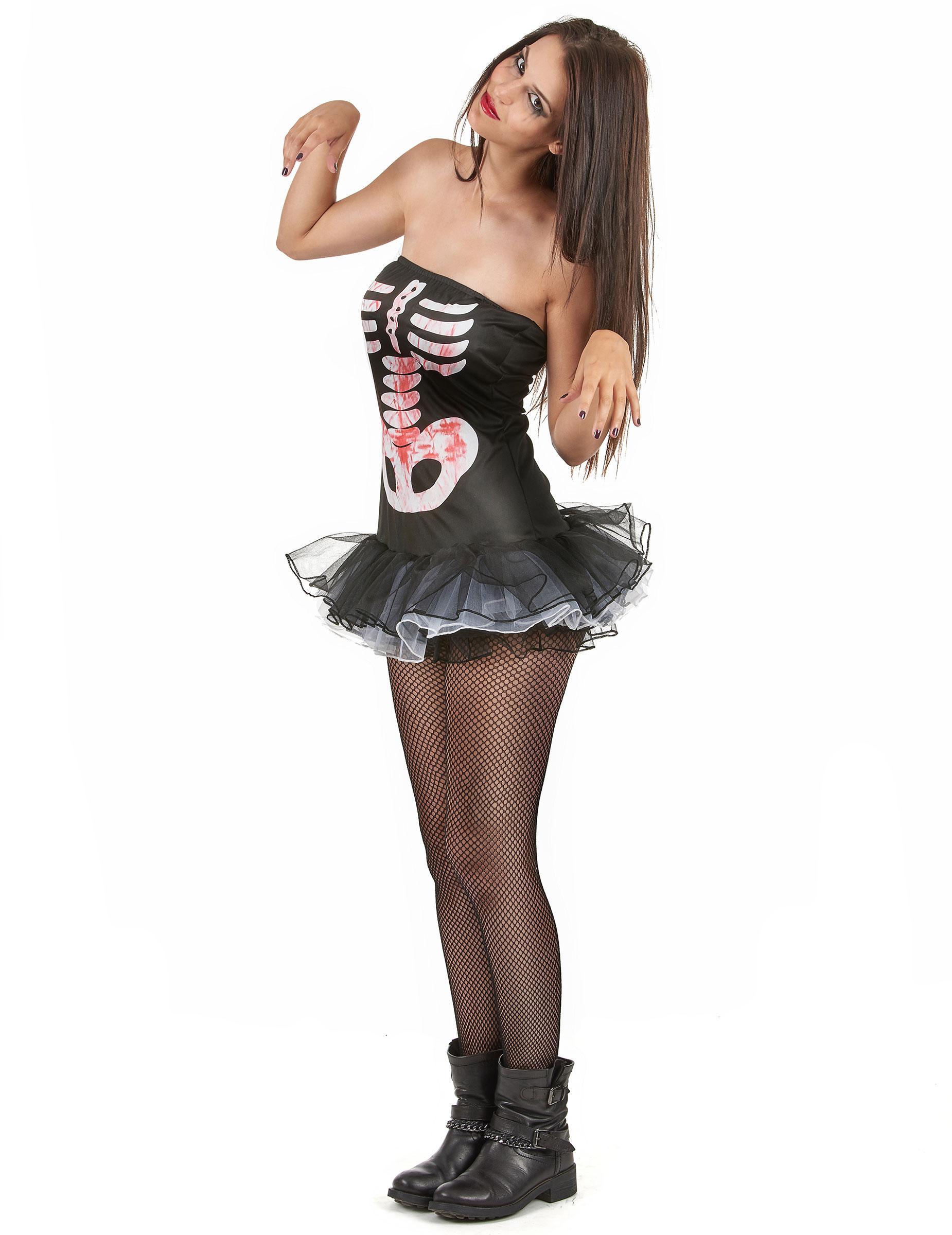 Halloween Su Da Donna Per Scheletro Sexy Costume Vegaooparty 6qc1zd6