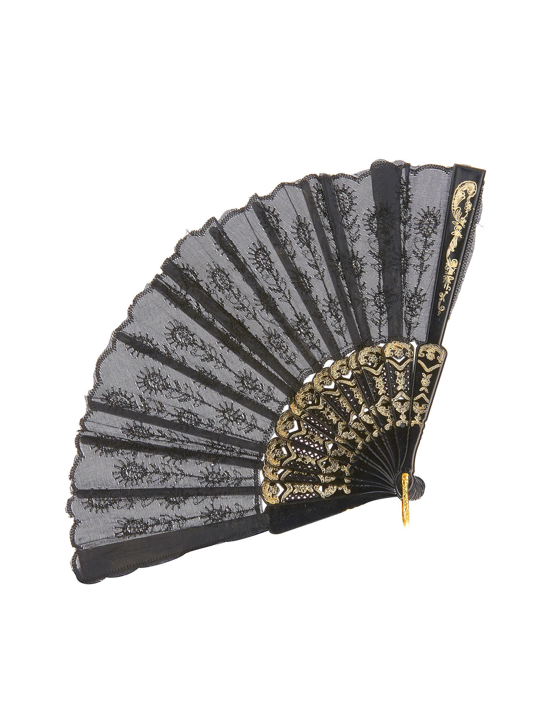 Ventagli Da Parete Decorativi ventaglio di colore nero su vegaooparty, negozio di articoli per feste