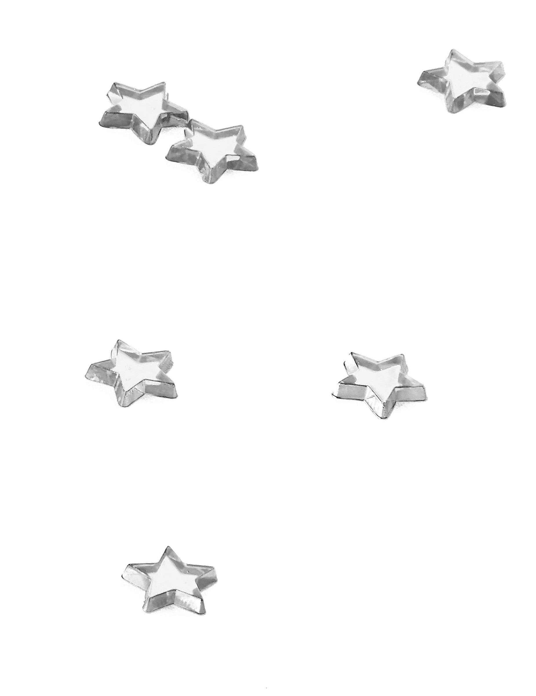 48 stelle color argento effetto specchio su VegaooParty 32c5071fcaf7