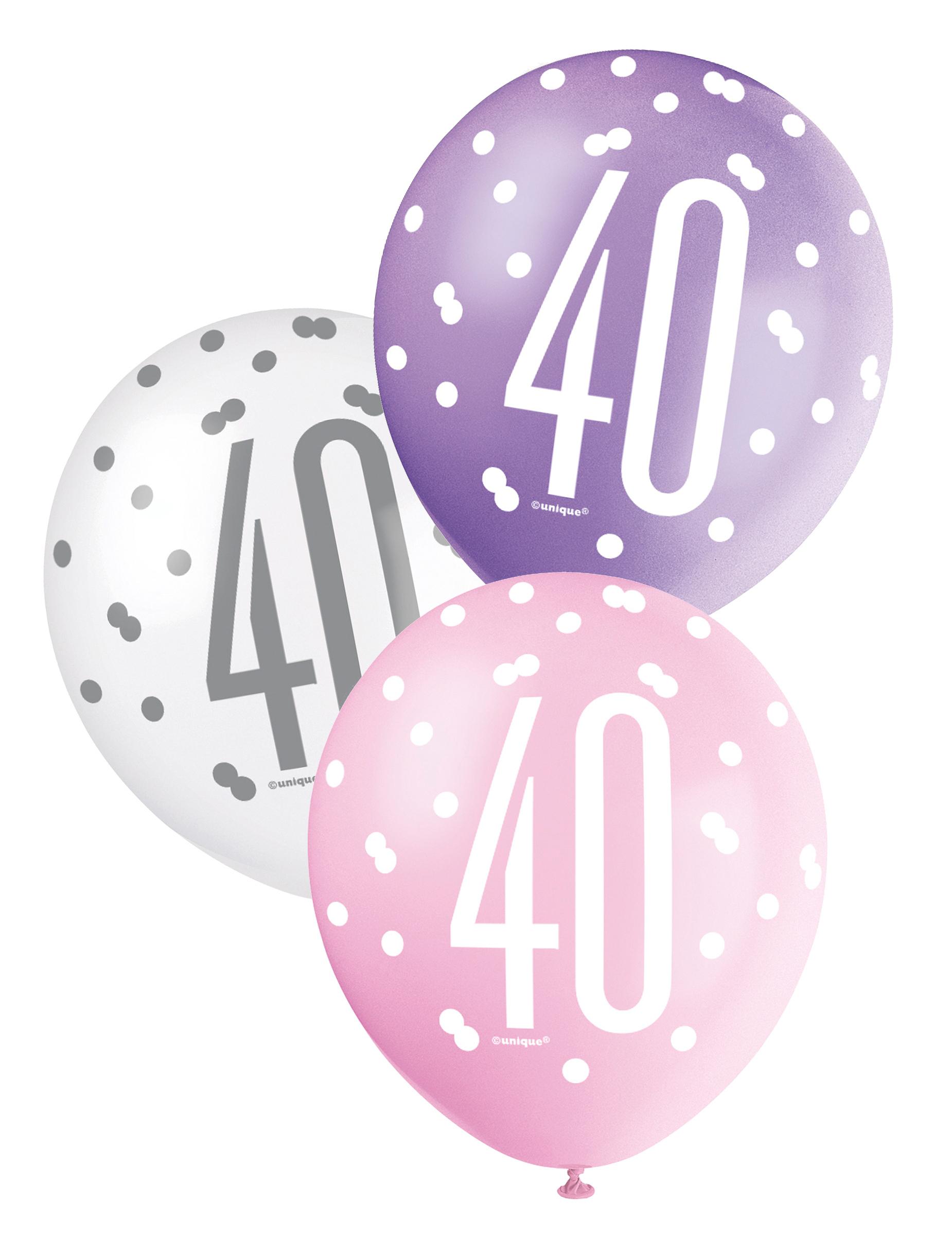 Palloncini color rosa per compleanno 40 anni su VegaooParty