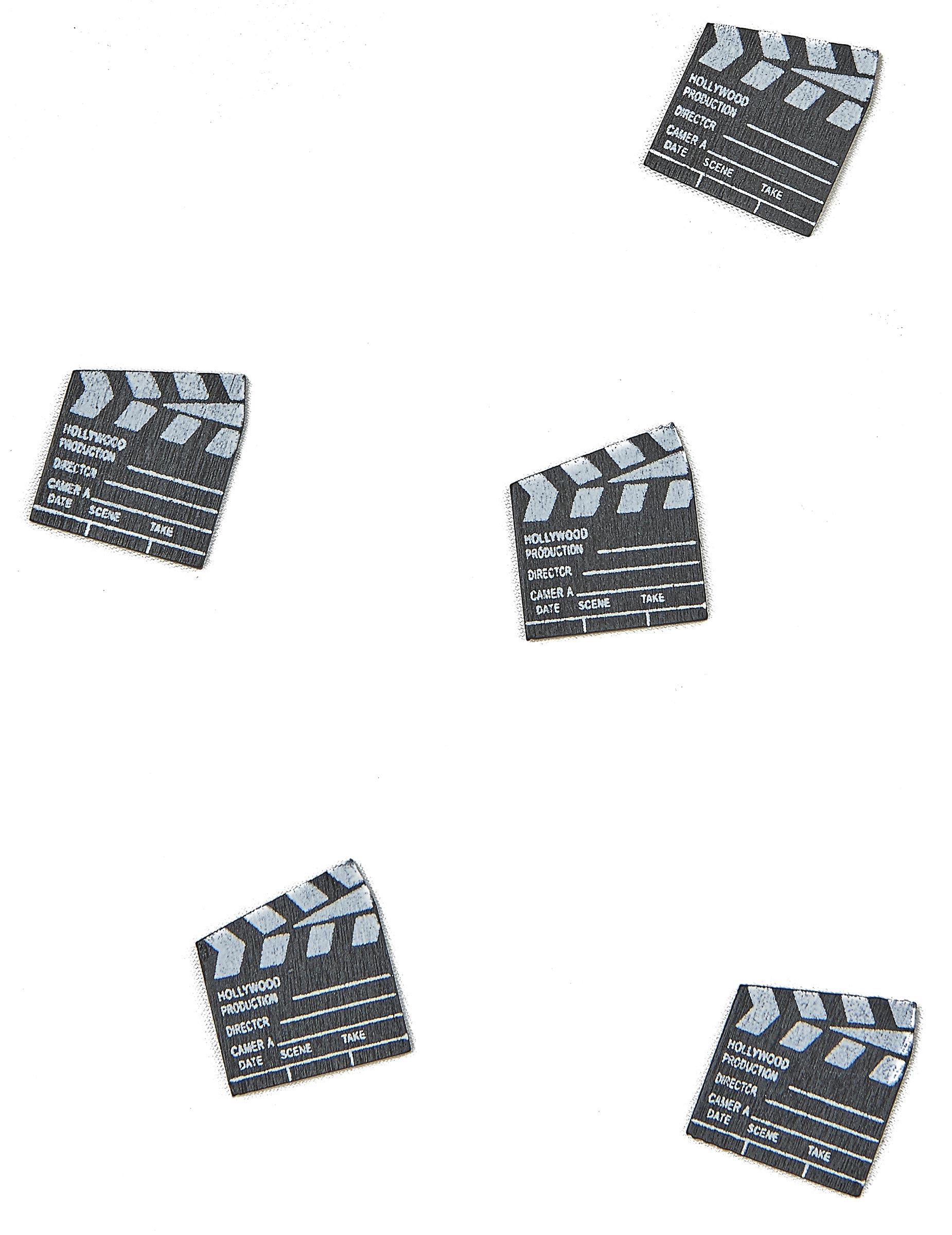 ciak hollywood  25 Coriandoli da tavolo Ciak del cinema su VegaooParty, negozio di ...