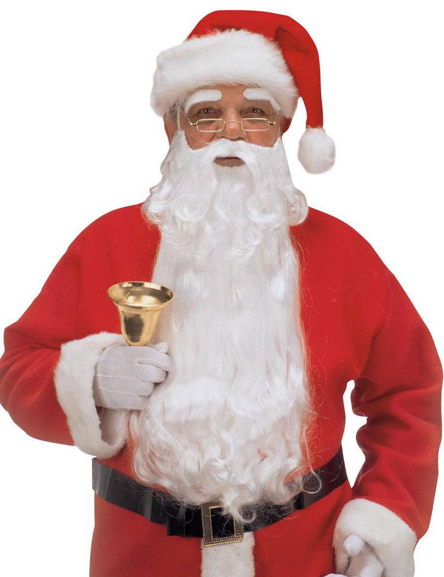 BABBO Natale Maschera Con con Barba Sopracciglia e Rosso Cappello Babbo Natale Costume