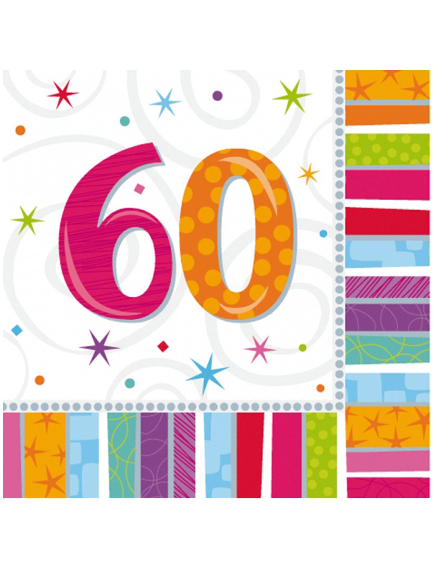 16 Tovaglioli Per 60 Anni Su Vegaooparty Negozio Di Articoli Per Feste