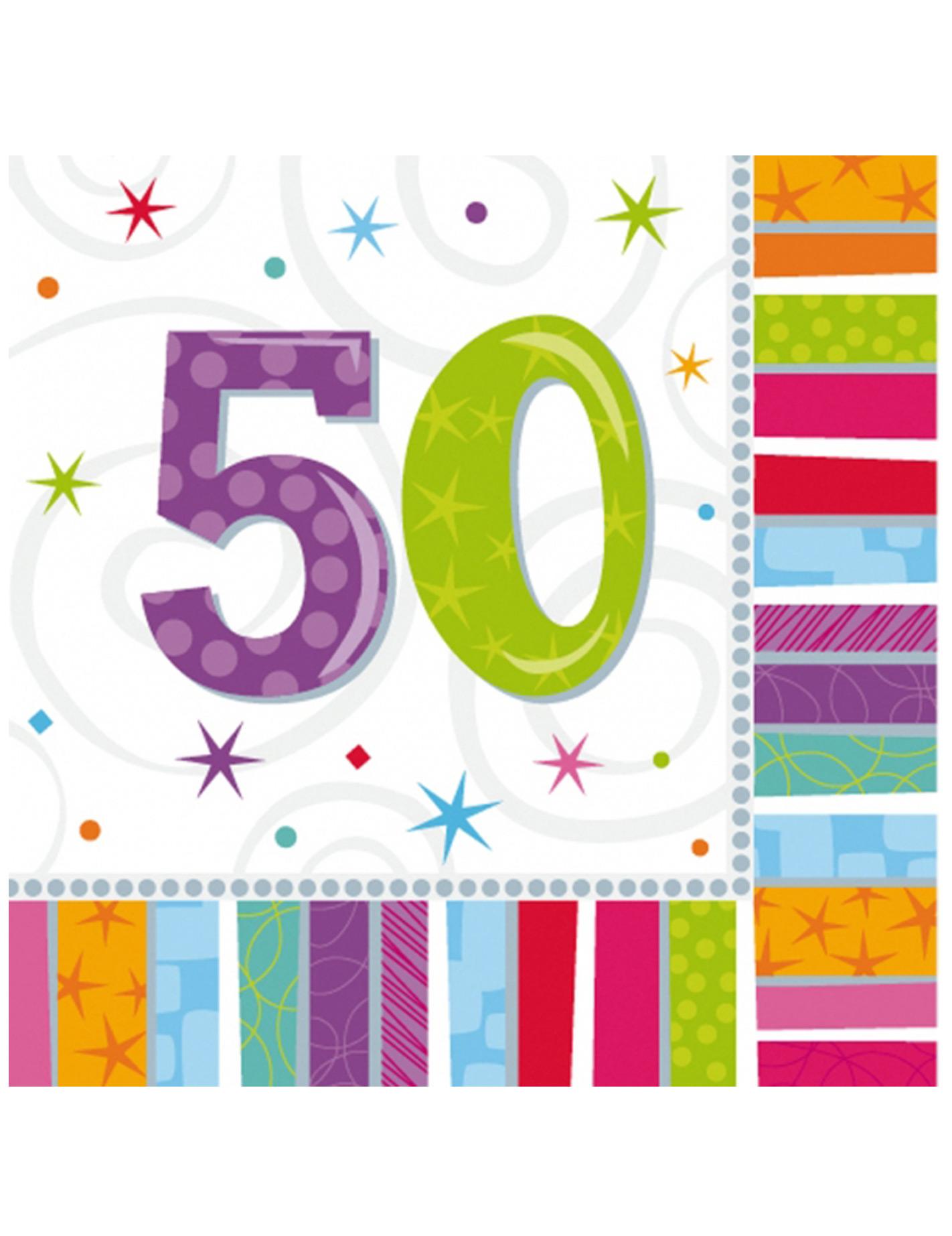 Tovaglioli Per 50 Anni Su Vegaooparty Negozio Di Articoli Per Feste