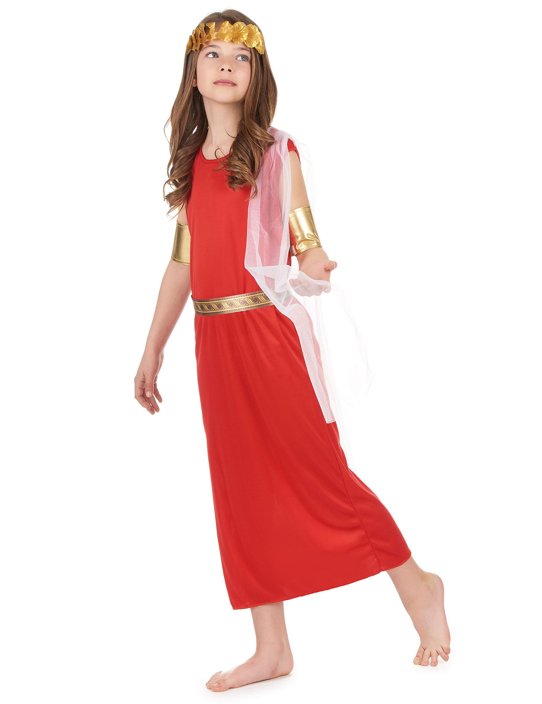 Costume Rosso Da Romana Bambina Su Vegaooparty Negozio Di Articoli