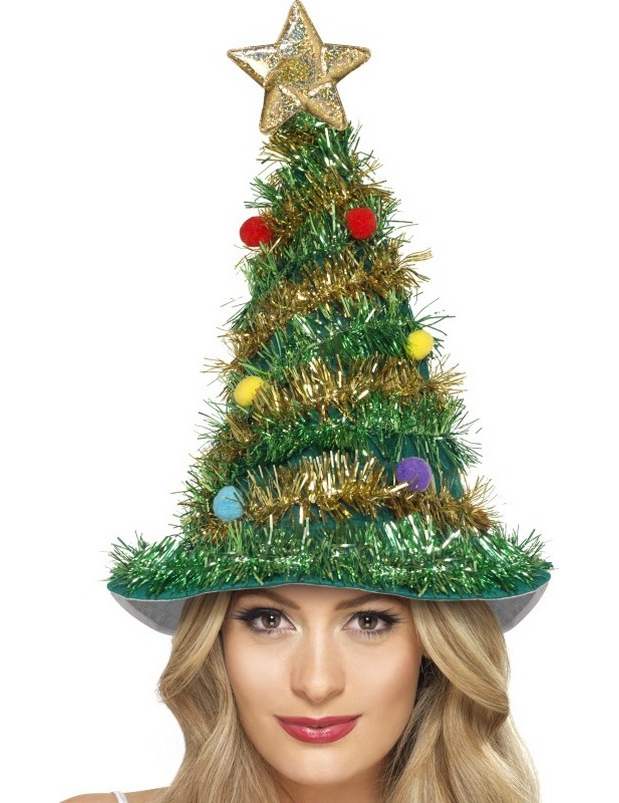 57514c5aae Cappello a forma di albero di natale per adulto su VegaooParty ...