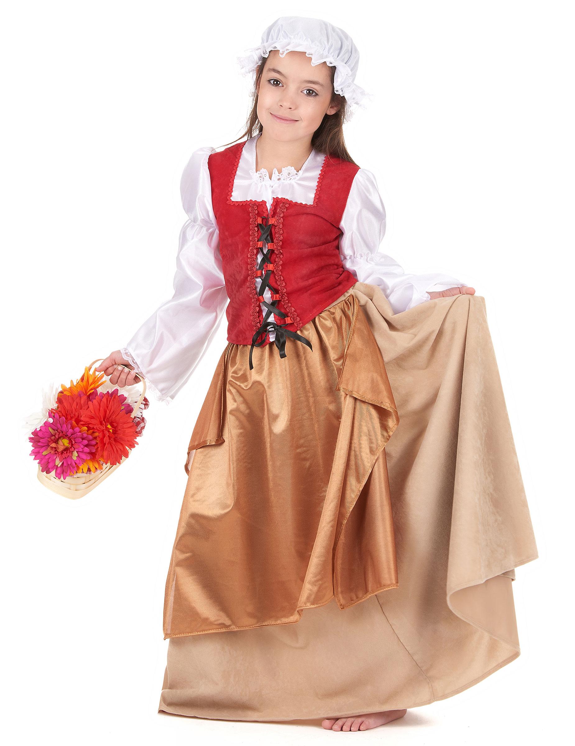 Travestimento da contadina del medioevo per bambina su VegaooParty ... bf24f33d117