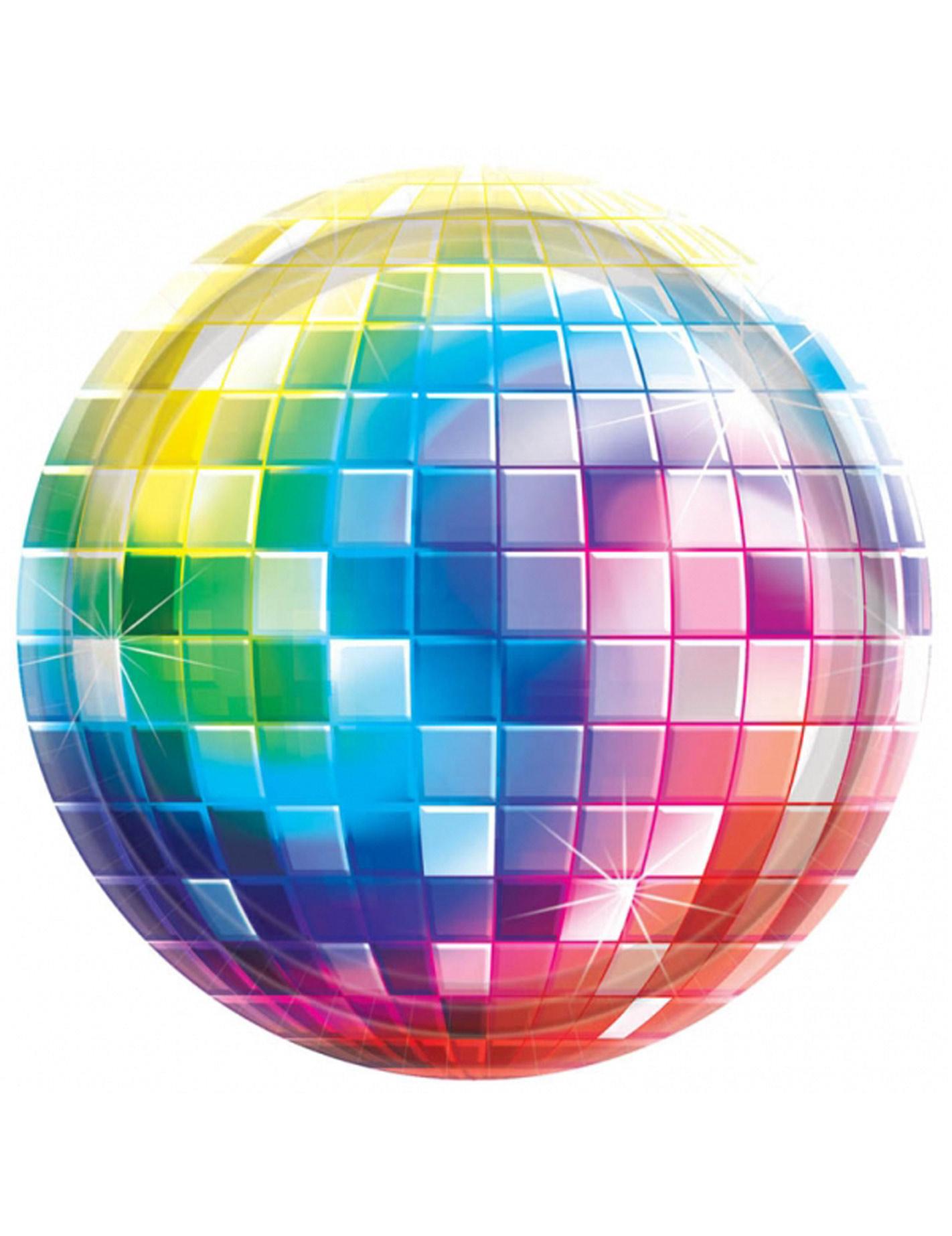 Immagini Palla Da Discoteca.8 Piatti Di Carta Con Palla Da Discoteca 26 Cm Su Vegaooparty Negozio Di Articoli Per Feste