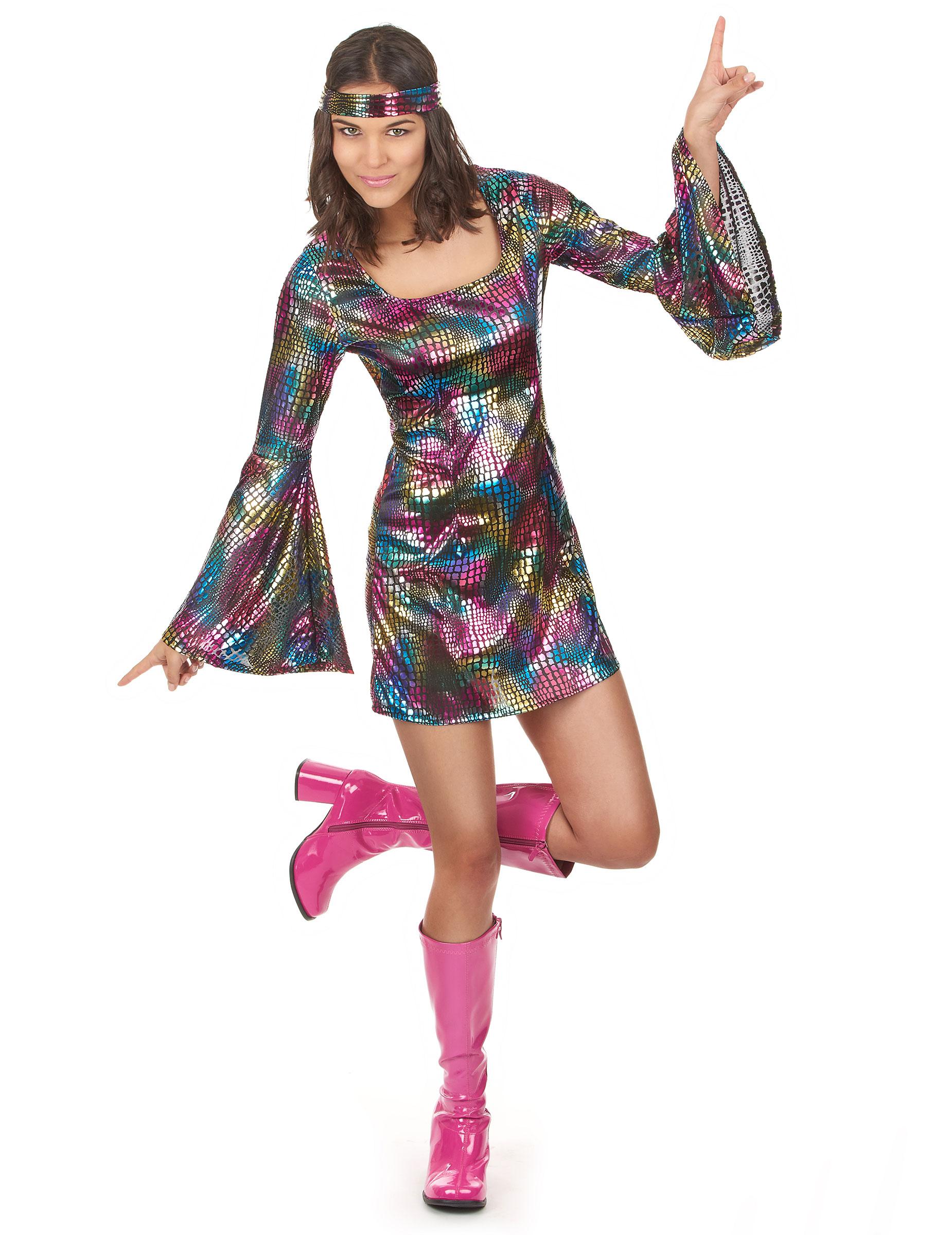 famoso marchio di stilisti come acquistare nuovi prodotti per Costume da donna adulta discoteca anni '70 su VegaooParty, negozio di  articoli per feste