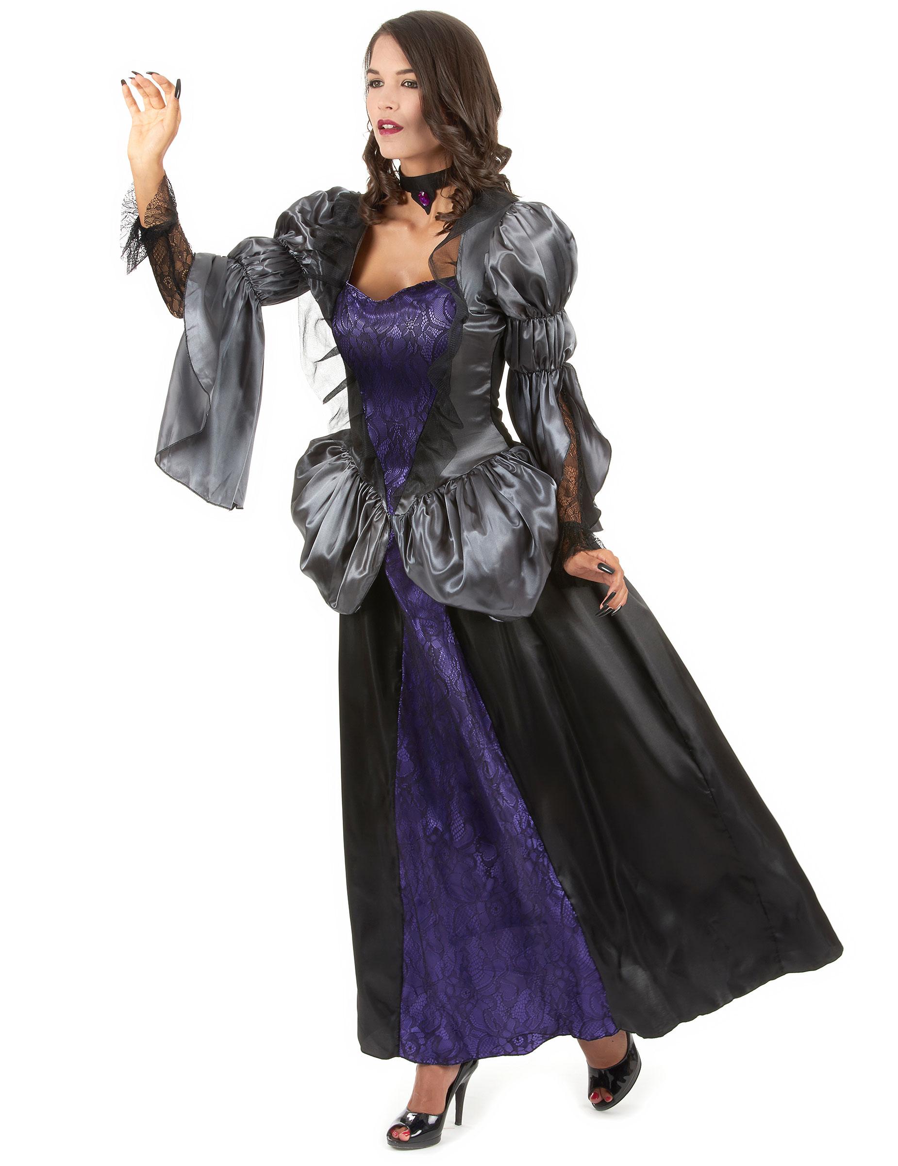 Costume da vampira nero e viola per donna su VegaooParty 205f1357cfe2