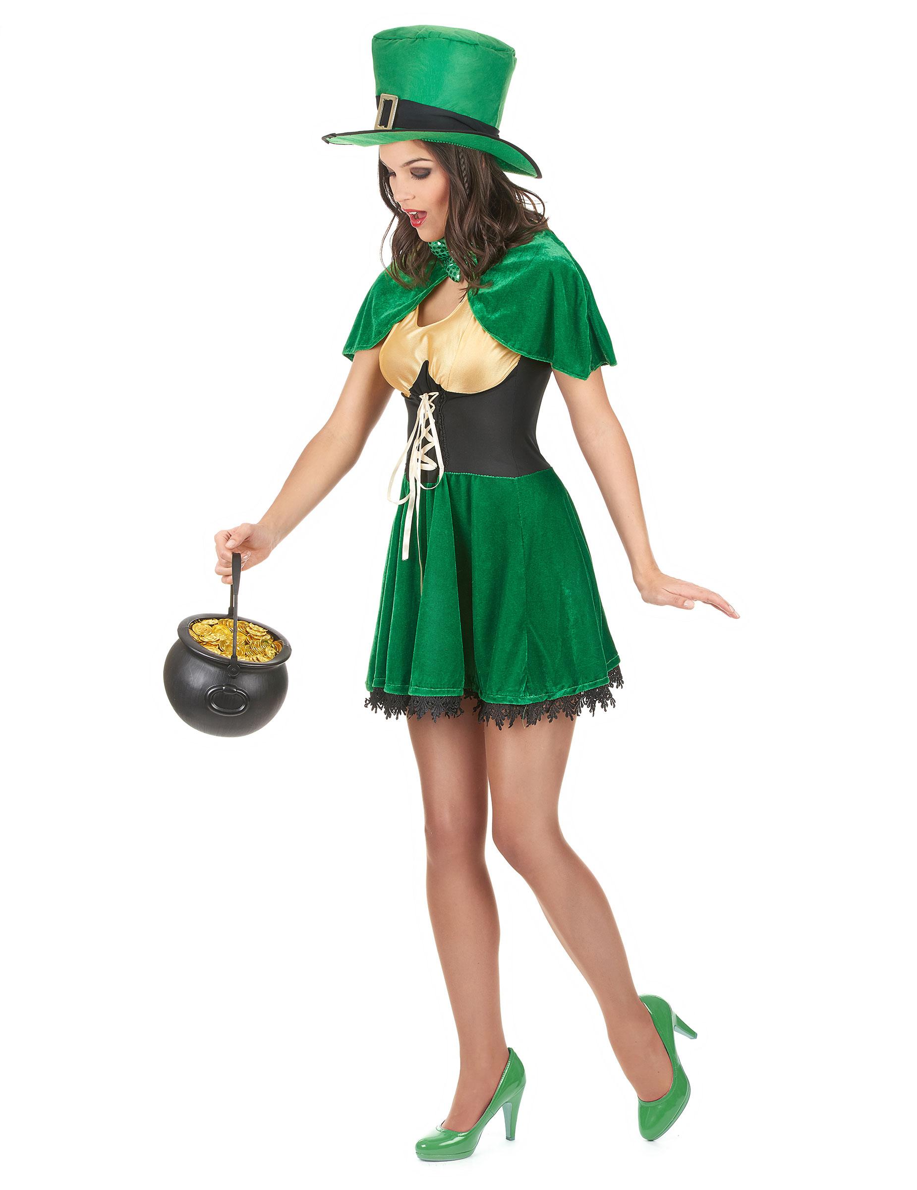 Costume da folletto di San Patrizio per donna su VegaooParty ... c6e8b443836d