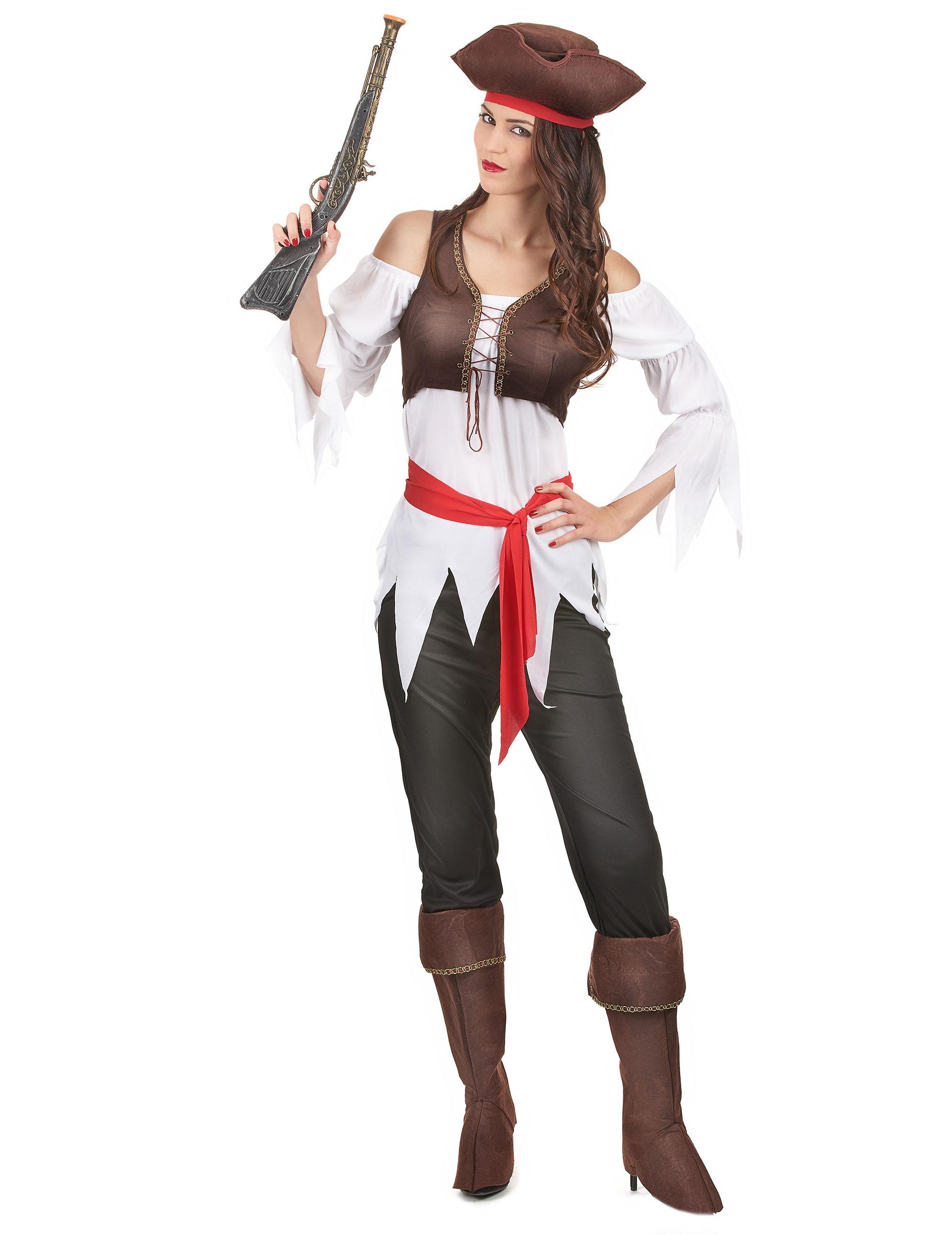 Costume da pirata Donna Costume piratessa dei pirata interno Costume Pirata Abito Costume piratessa dei