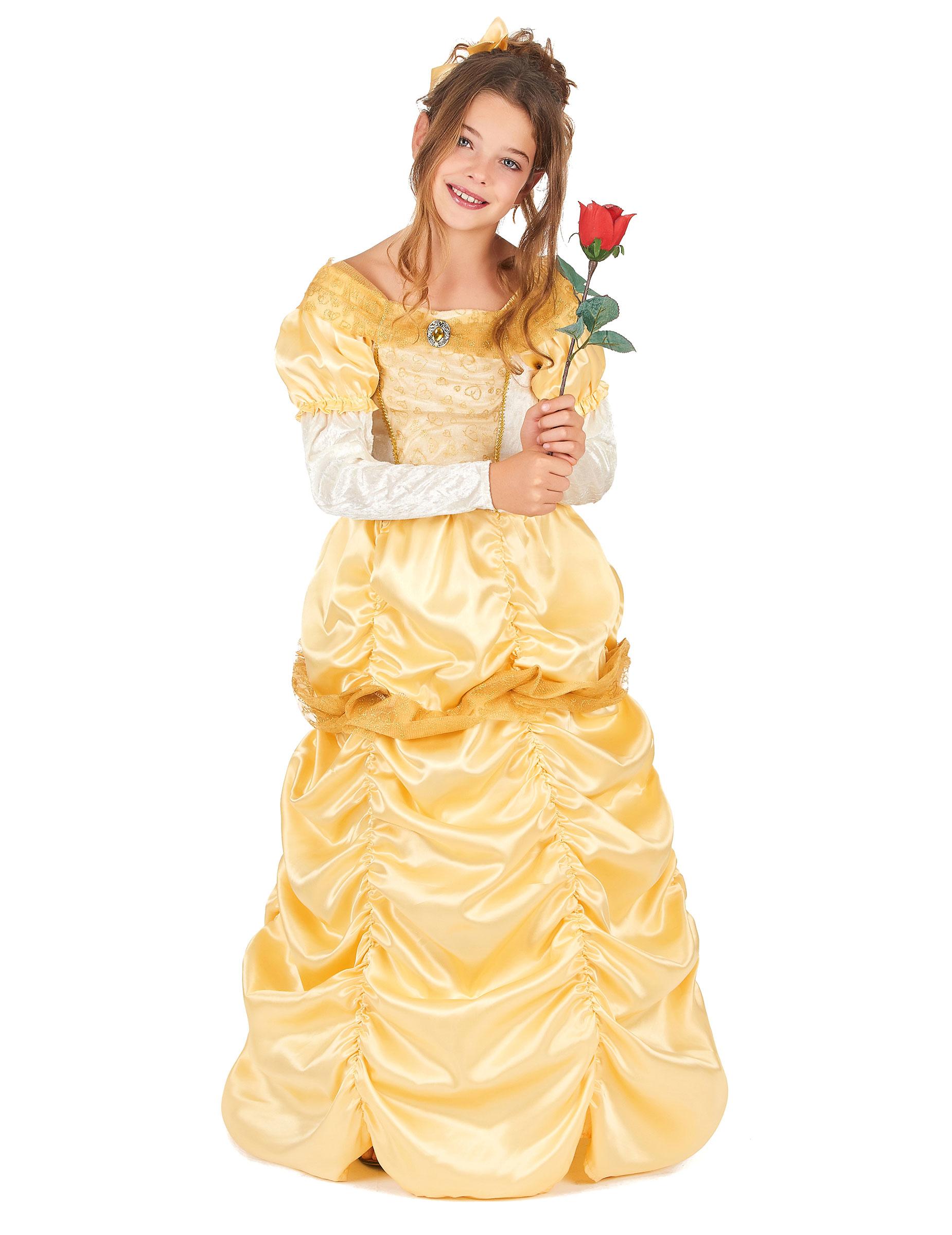 bbb2e8d9aaf3 Costume da principessa colore giallo bambina su VegaooParty, negozio ...