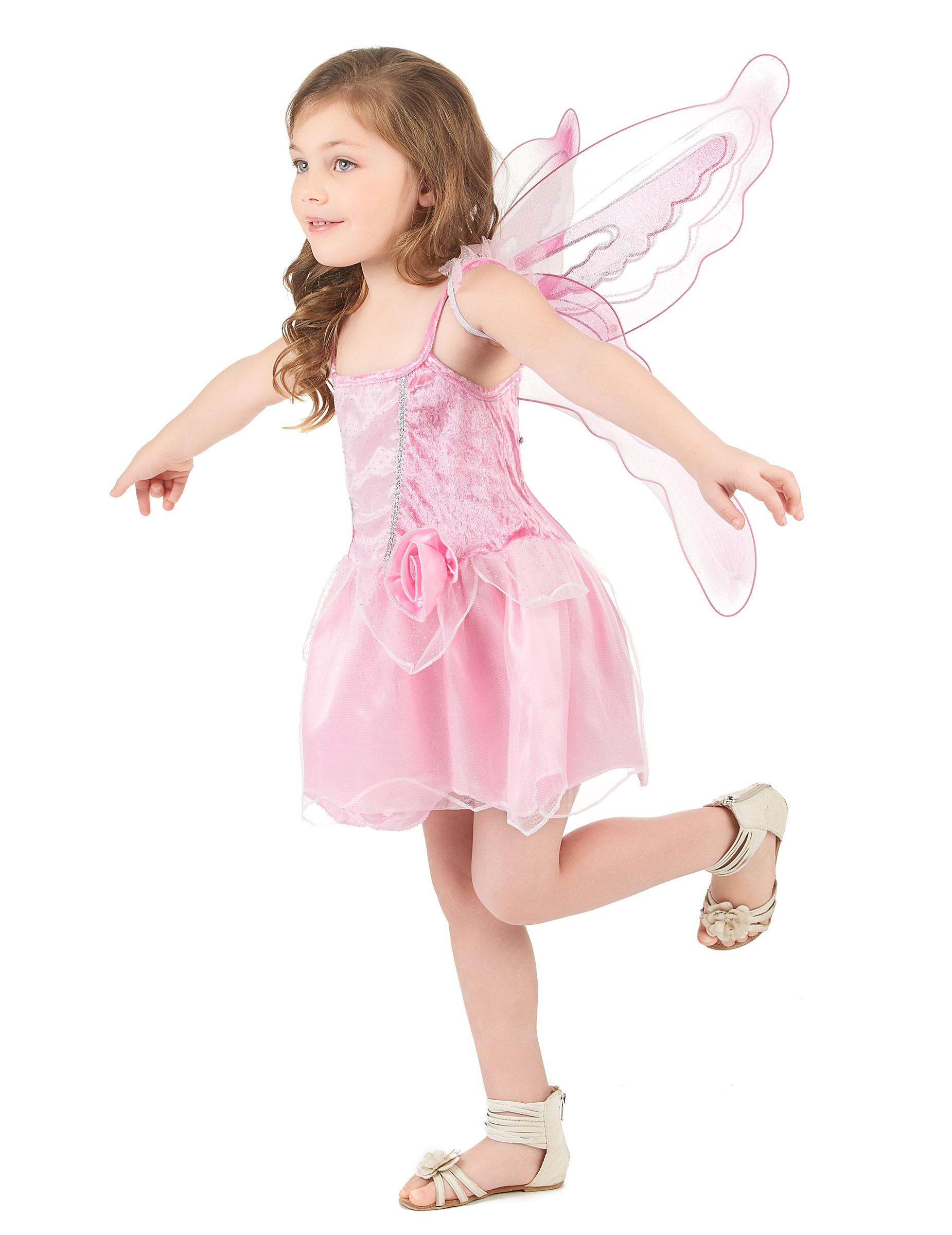 Costume da fatina rosa per bambina su VegaooParty 9a25d350530