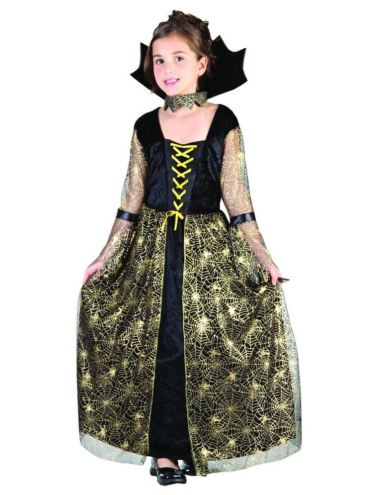 Costume da strega ragno nero e oro per bambina su VegaooParty ... b52c3383f7aa