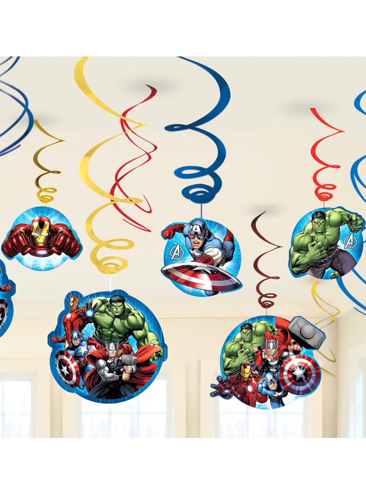 decorazioni da appendere avengers su vegaooparty