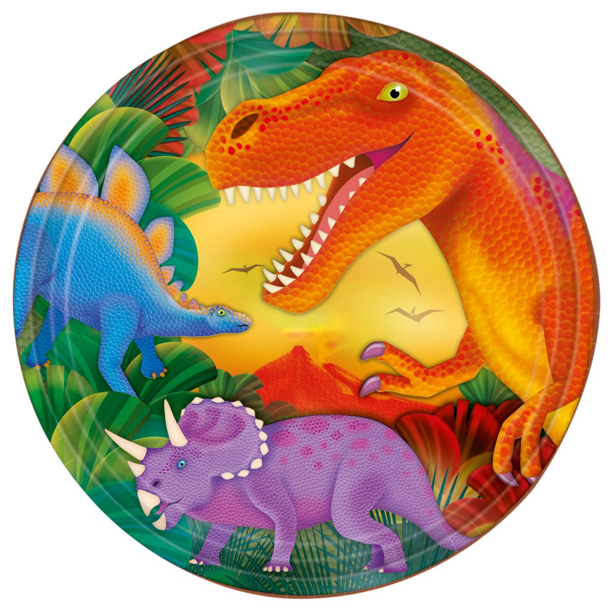 Piatti dinosauri in cartone su vegaooparty negozio di