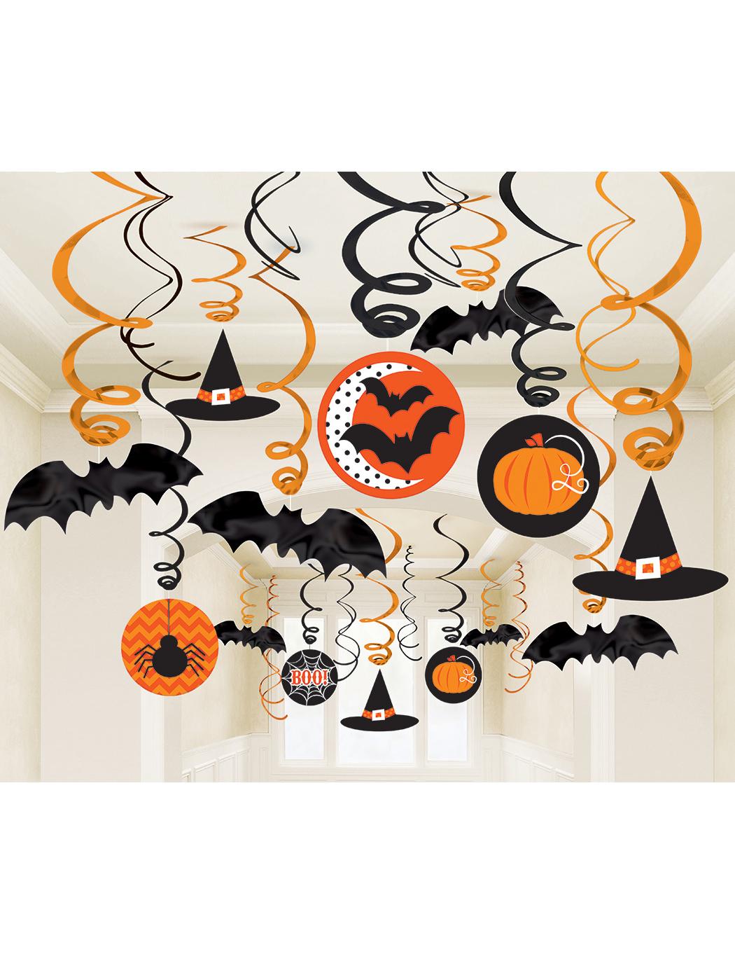 Confezione 30 decorazioni appese halloween su vegaooparty - Halloween decorazioni ...