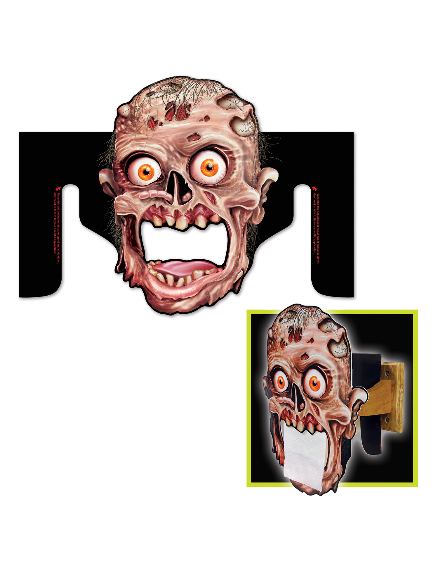 Porta Carta Igienica Originali porta carta igienica a forma di testa di zombie su vegaooparty, negozio di  articoli per feste