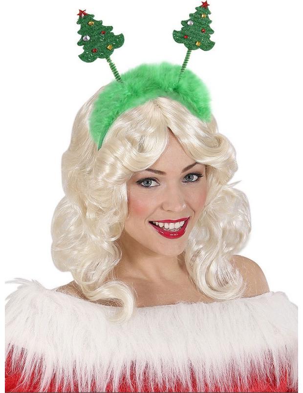 60d177ed8c Cerchietto con pelliccia alberi Natale su VegaooParty, negozio di ...