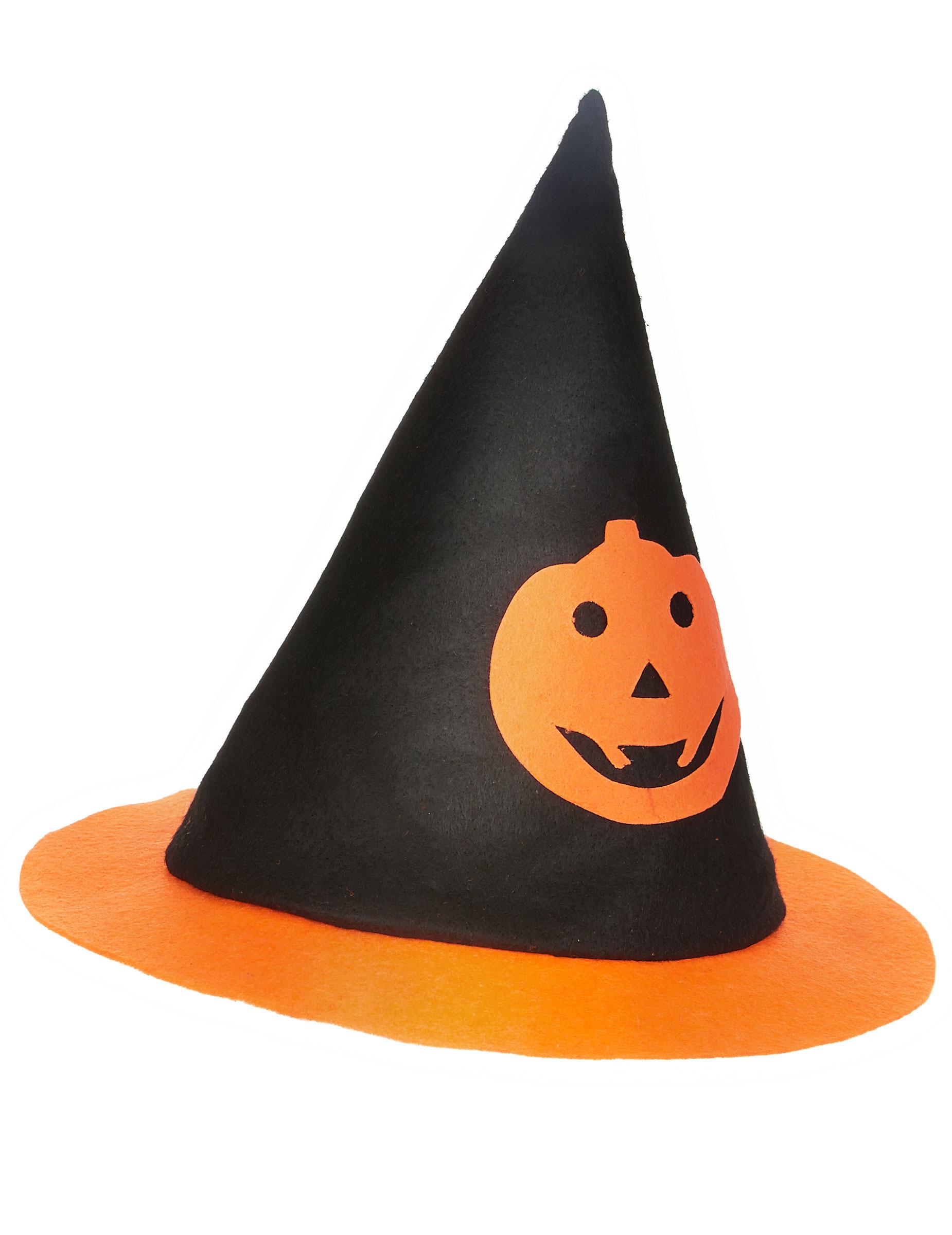 Cappello da strega per bambino con zucca di Halloween su VegaooParty ... 1ef13237054c