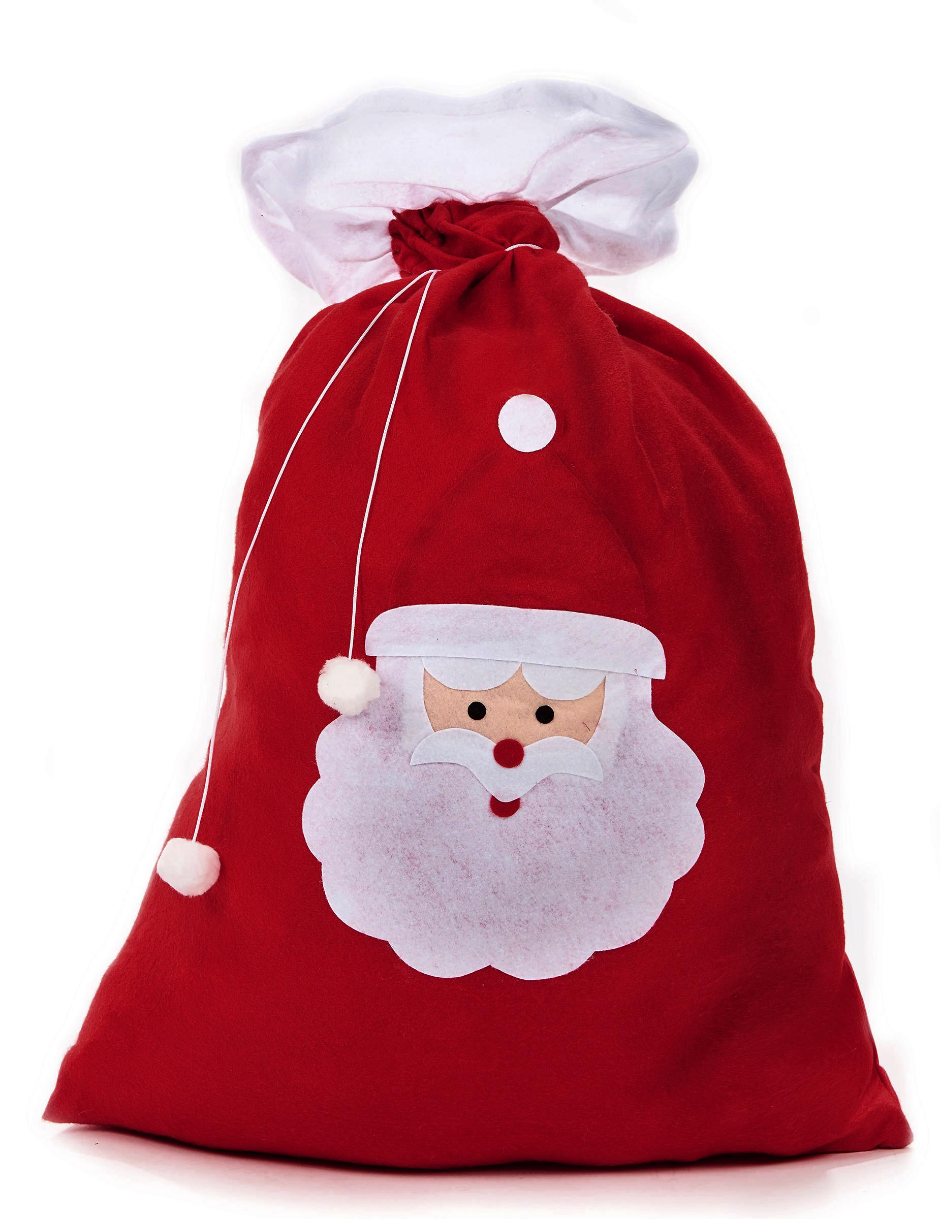 Regali Di Babbo Natale.Sacco Rosso Porta Regali Di Babbo Natale Su Vegaooparty Negozio Di Articoli Per Feste