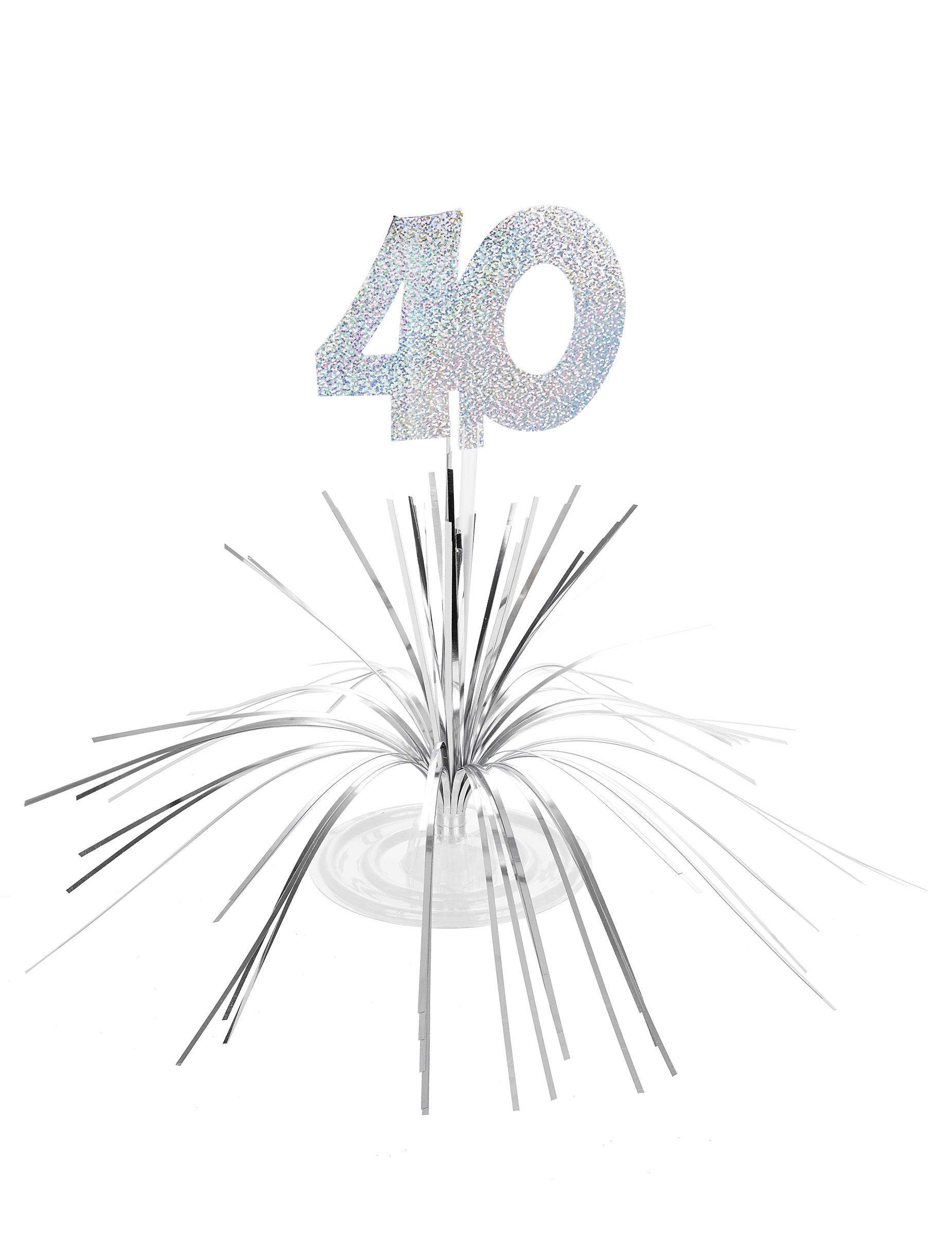 Festa Di Quarant Anni decorazione per il tavolo con numero 40 su vegaooparty, negozio di articoli  per feste