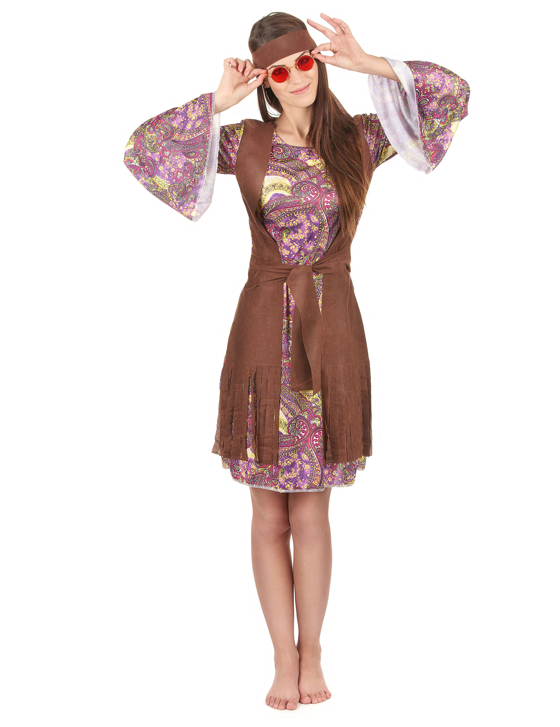 5d5d23ff66cc Costume Figlia dei Fiori da donna hippie su VegaooParty