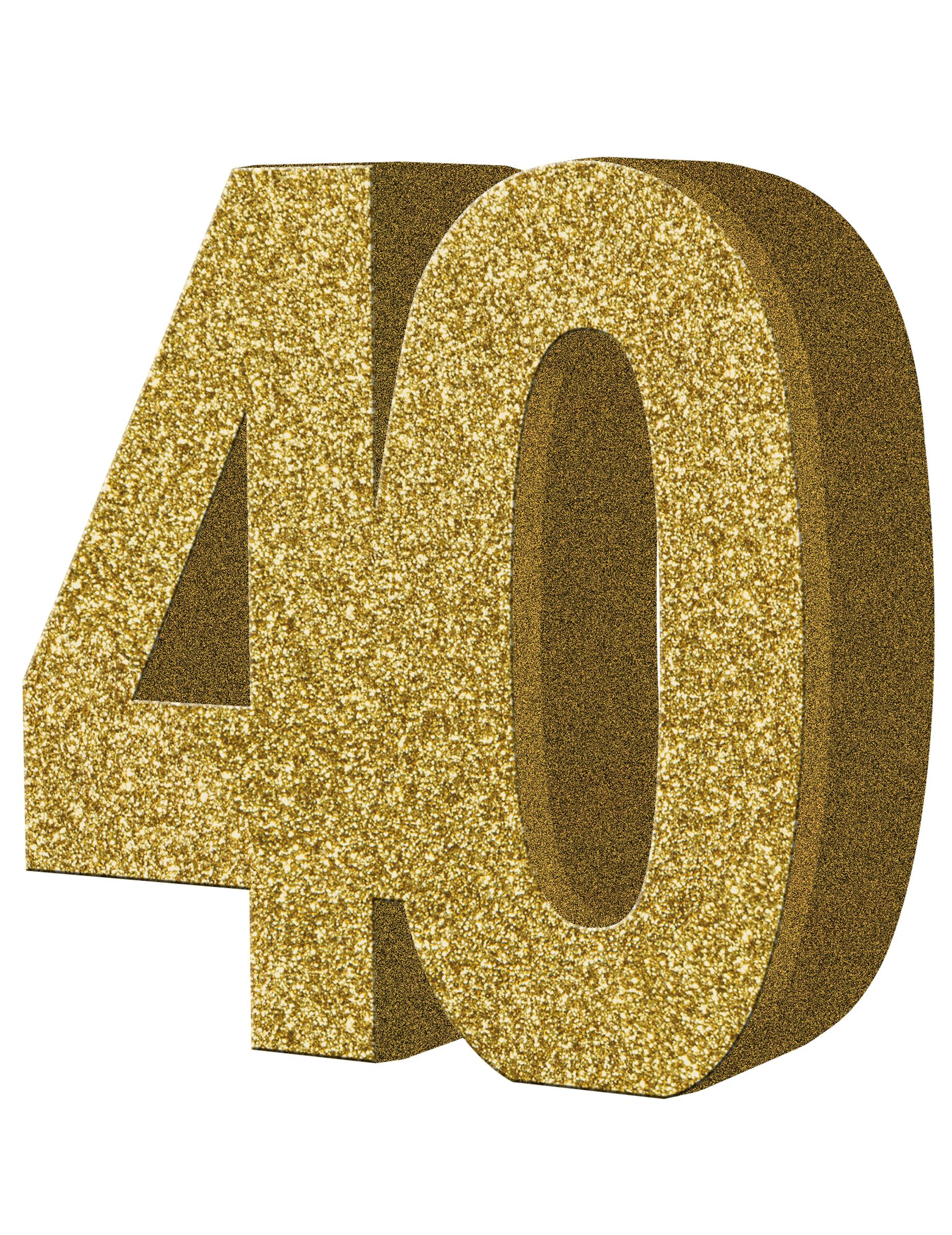 Decorazione Per Tavolo Numero 40 Color Oro Su VegaooParty