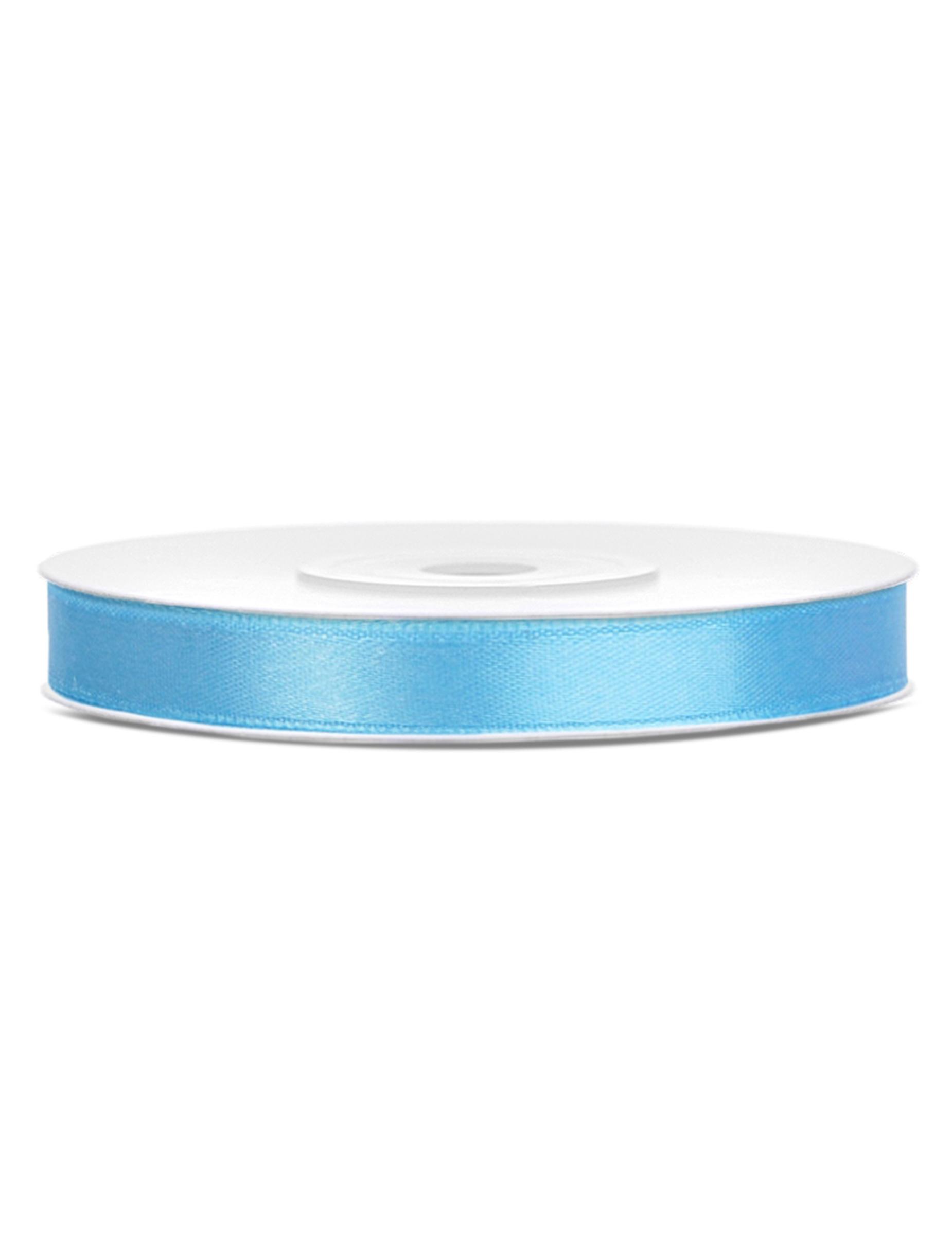 10 metri nastro raso 3-4 mm azzurro