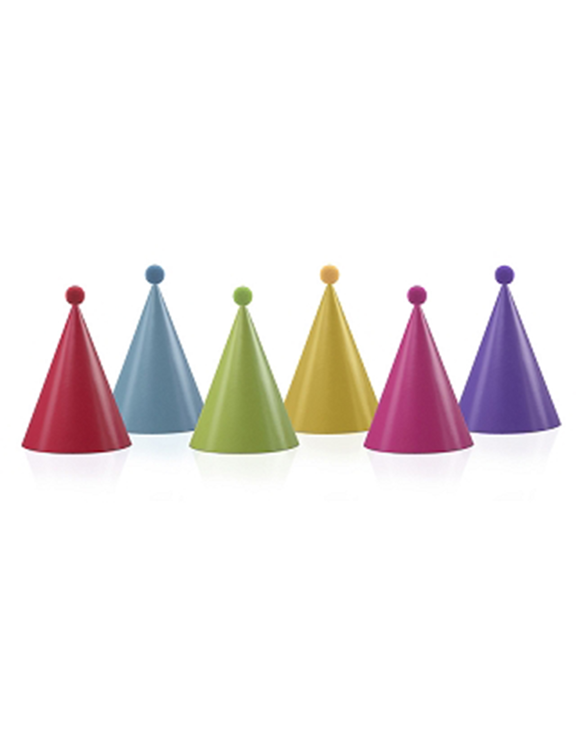 Confezione da 6 cappellini da festa con pon pon su VegaooParty ... 66fb9a94f03e