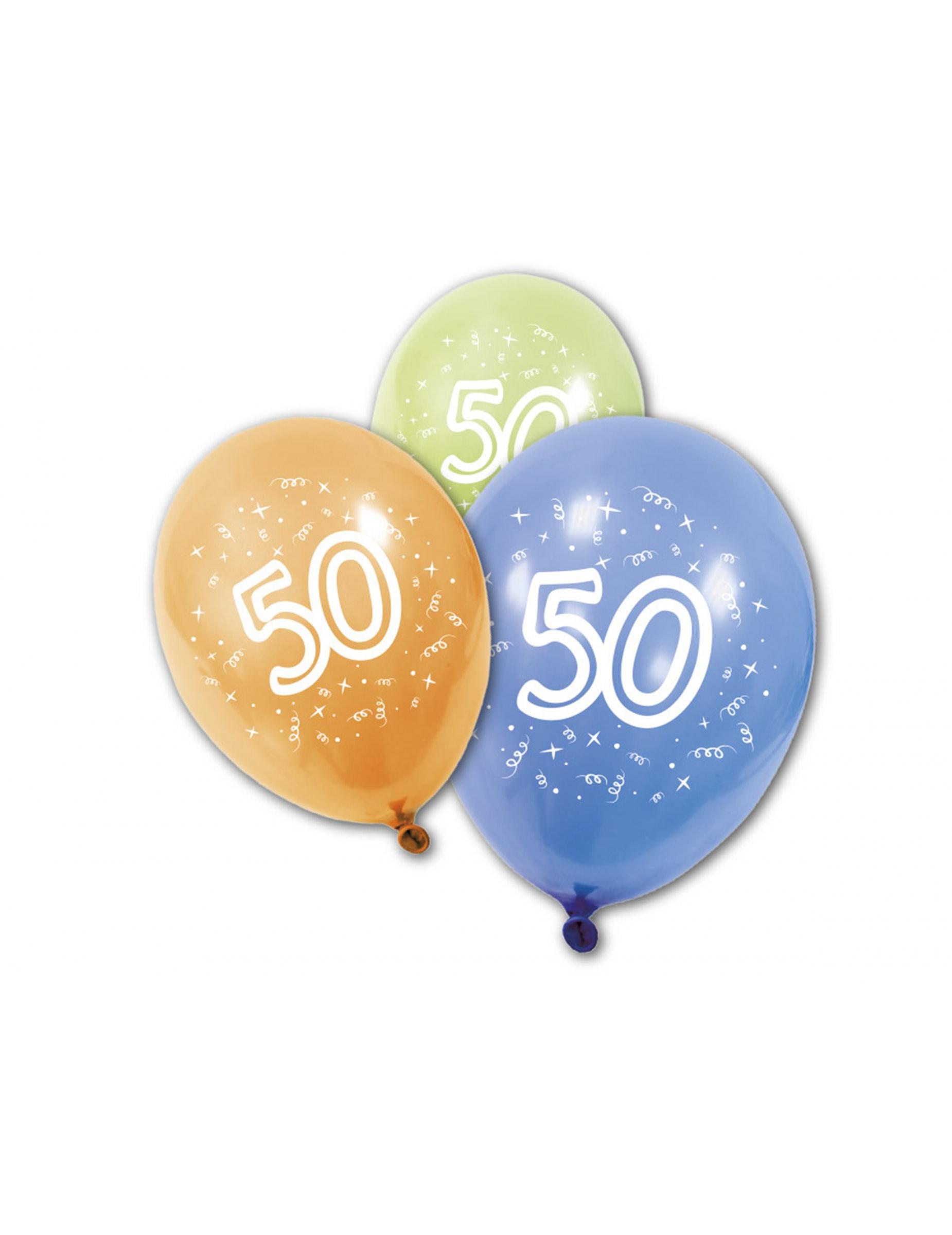 8 Palloncini Per Il Compleanno Dei 50 Anni Su Vegaooparty Negozio Di Articoli Per Feste