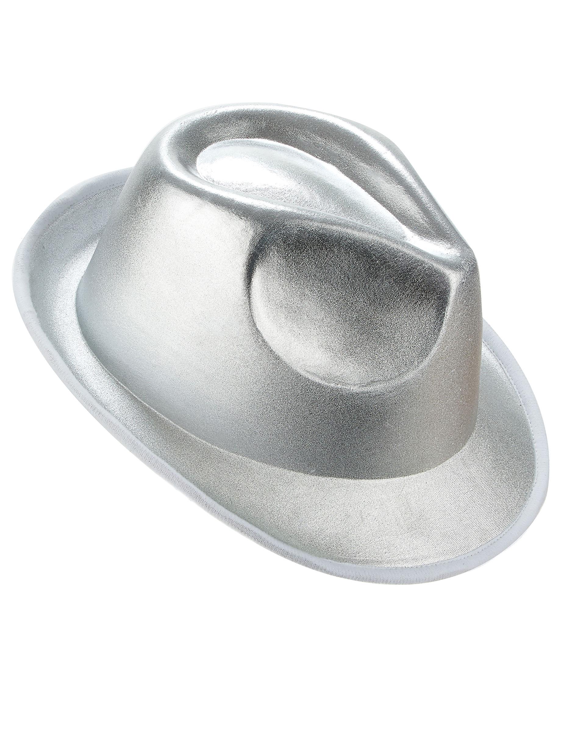 Cappello stile borsalino color argento adulto su VegaooParty ... c9ac6827cceb