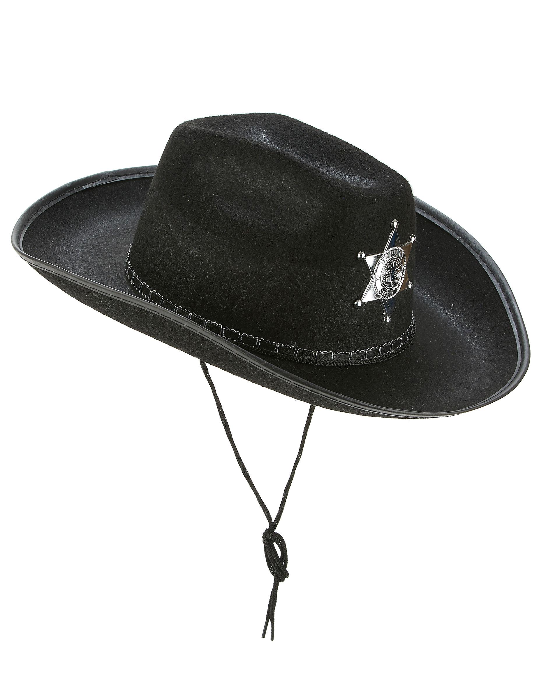Nero Cowboy Fiocco Cravatta Sceriffo Western Costume