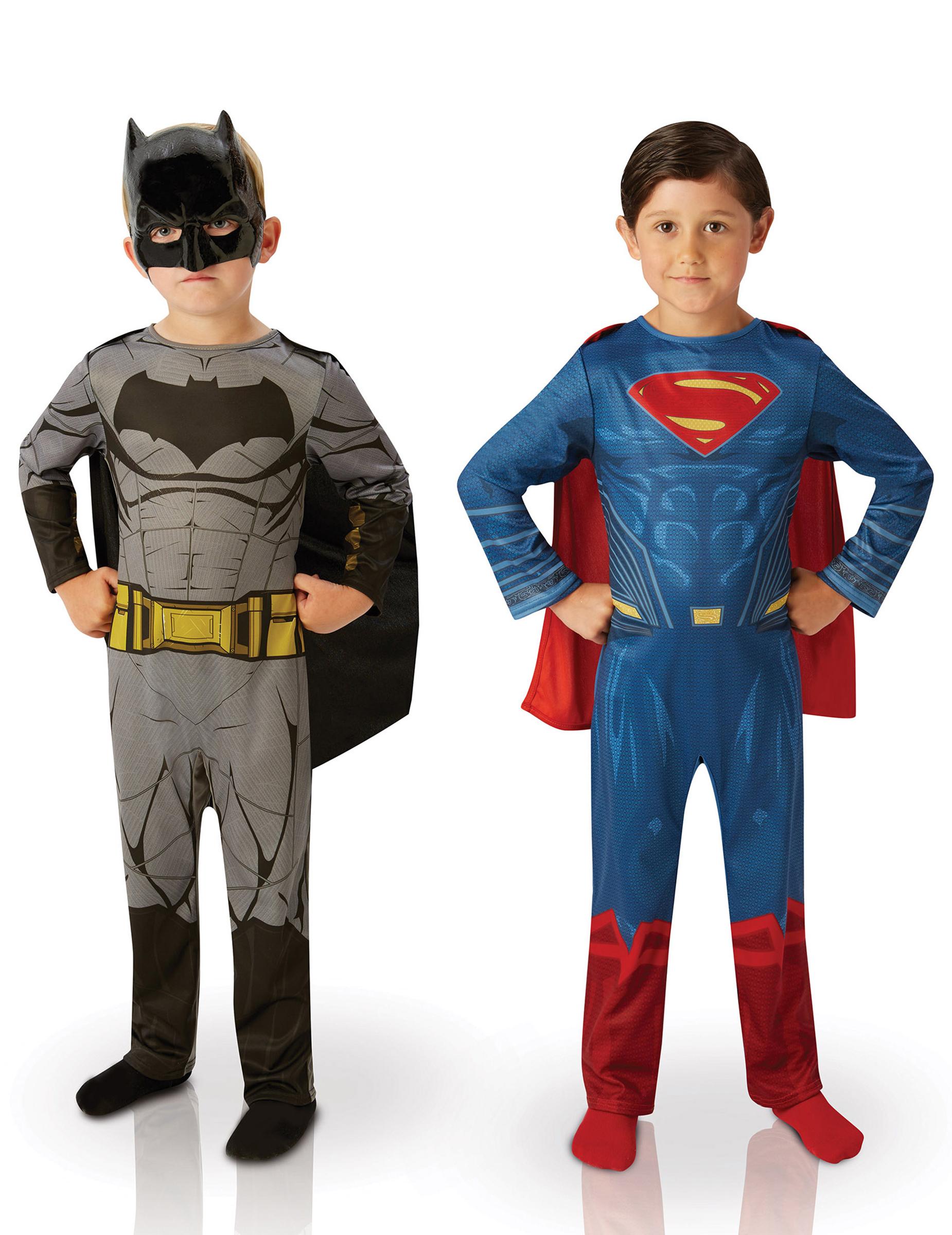Confezione Due Costumi Bambino Batman Vs Superman Dawn Of Justice