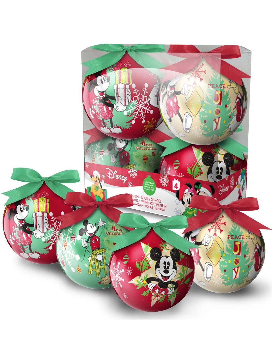 4 Palline Di Natale Di Topolino Su Vegaooparty Negozio Di Articoli
