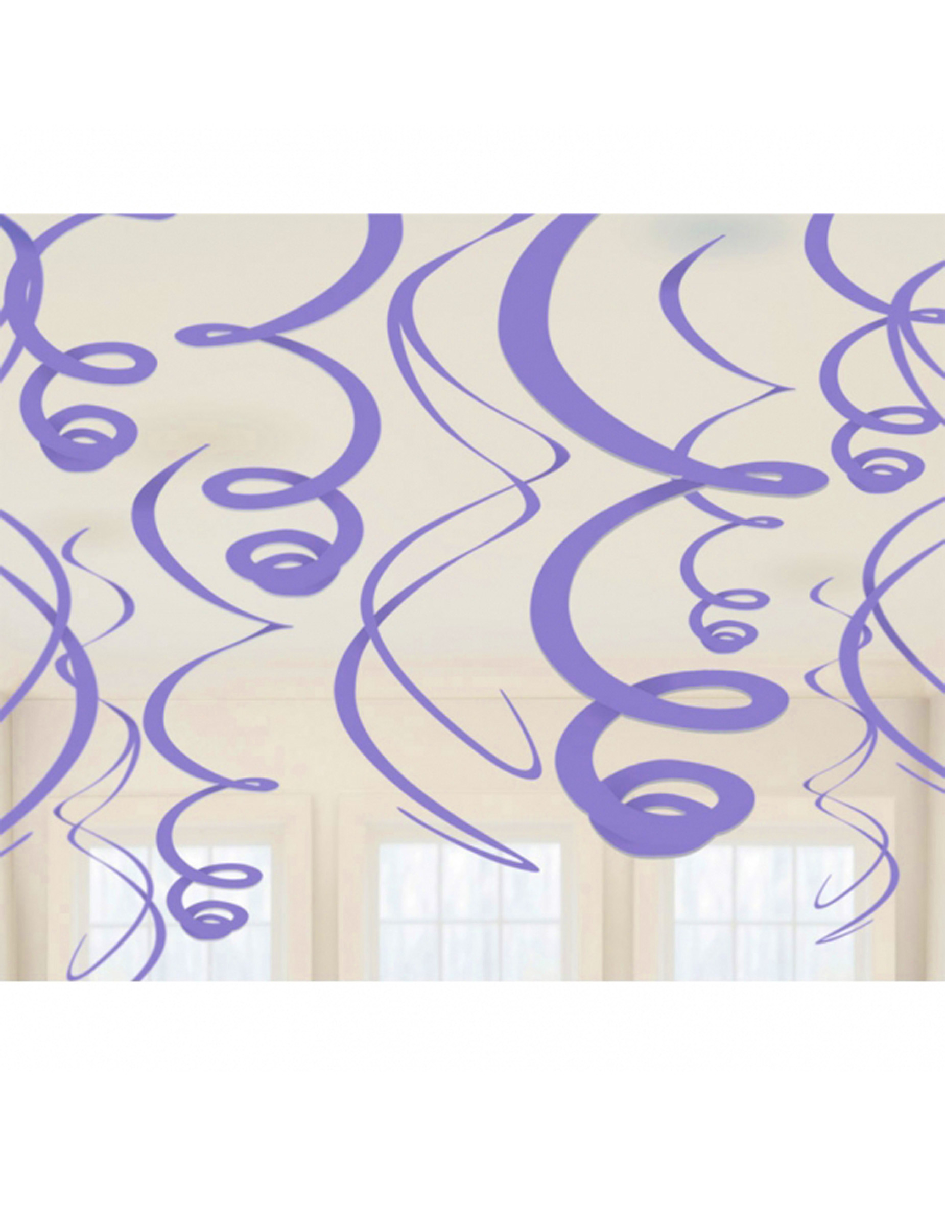 12 decorazioni a spirale lilla su vegaooparty negozio di for Decorazioni feste