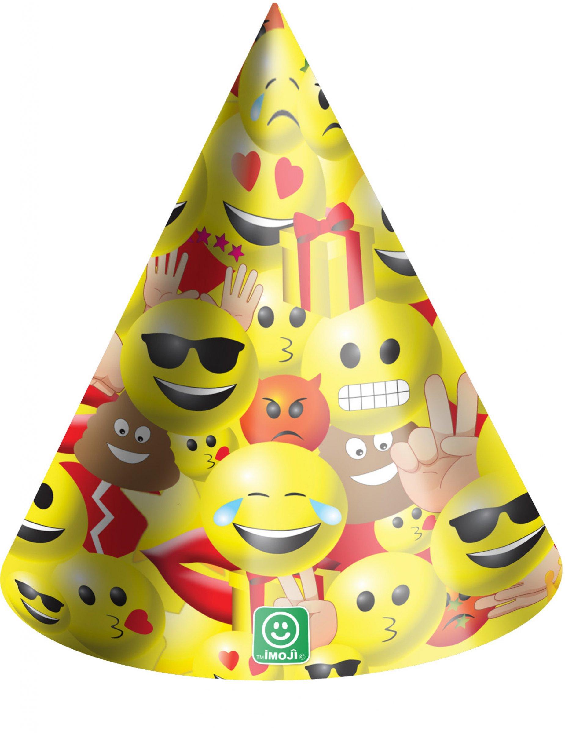 6 cappellini da festa in cartone Imoji™ su VegaooParty 2368f10a137d