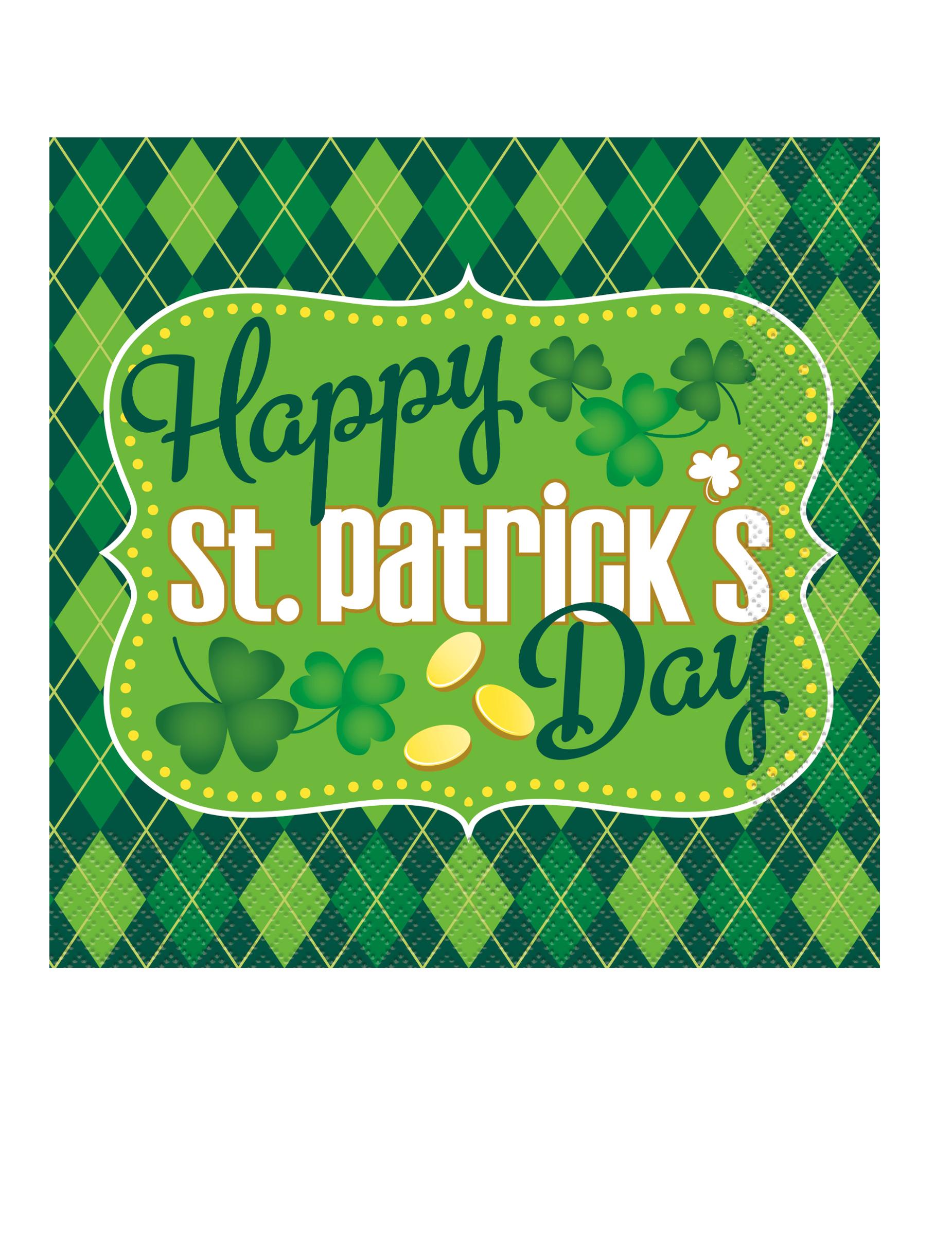 16 tovaglioli di carta verdi per San Patrizio su VegaooParty ... 25f6fa9c4530